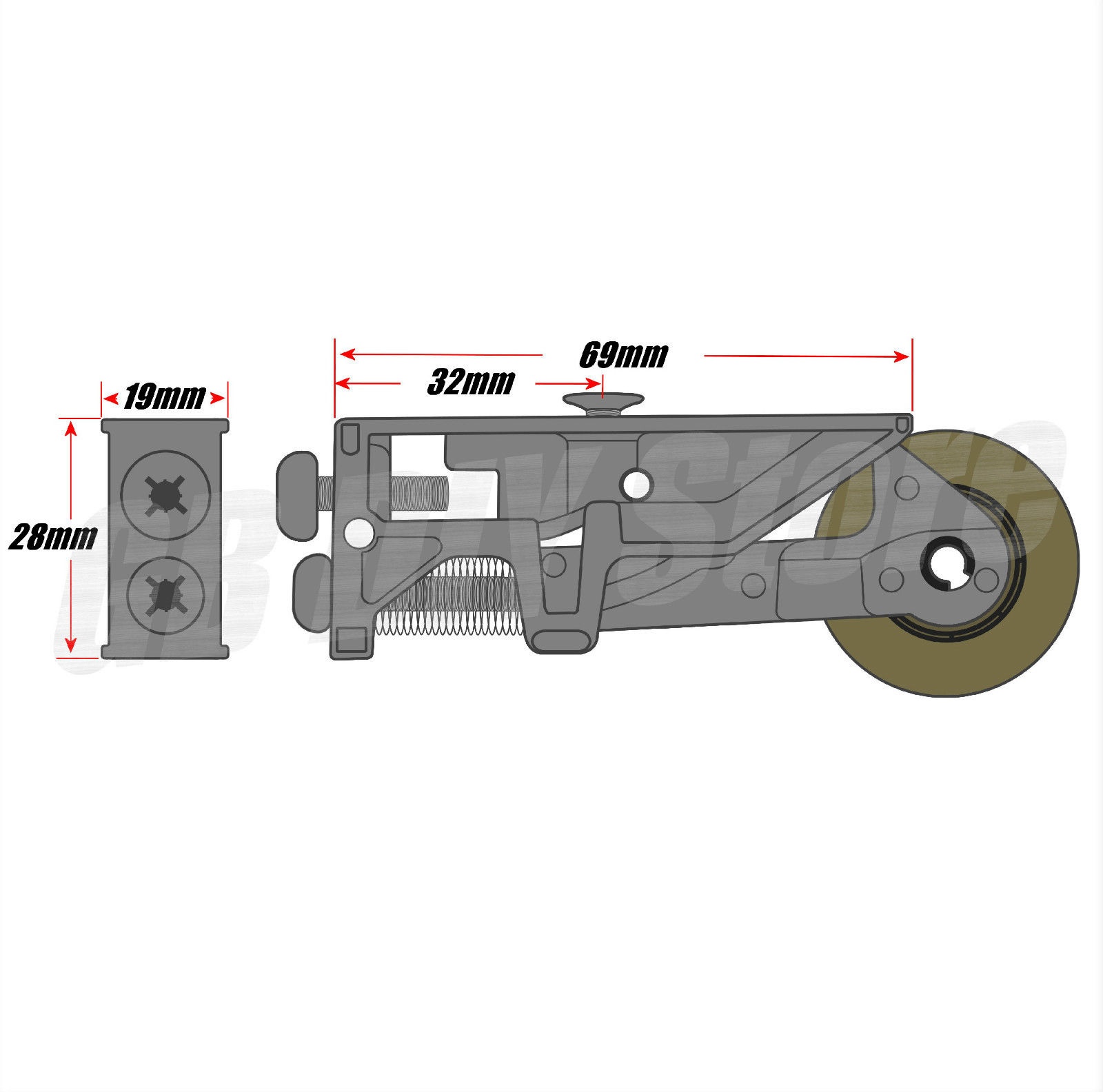 Pair Of Srz S Patio Door Steel Rollers 32mm Wheels Sliding