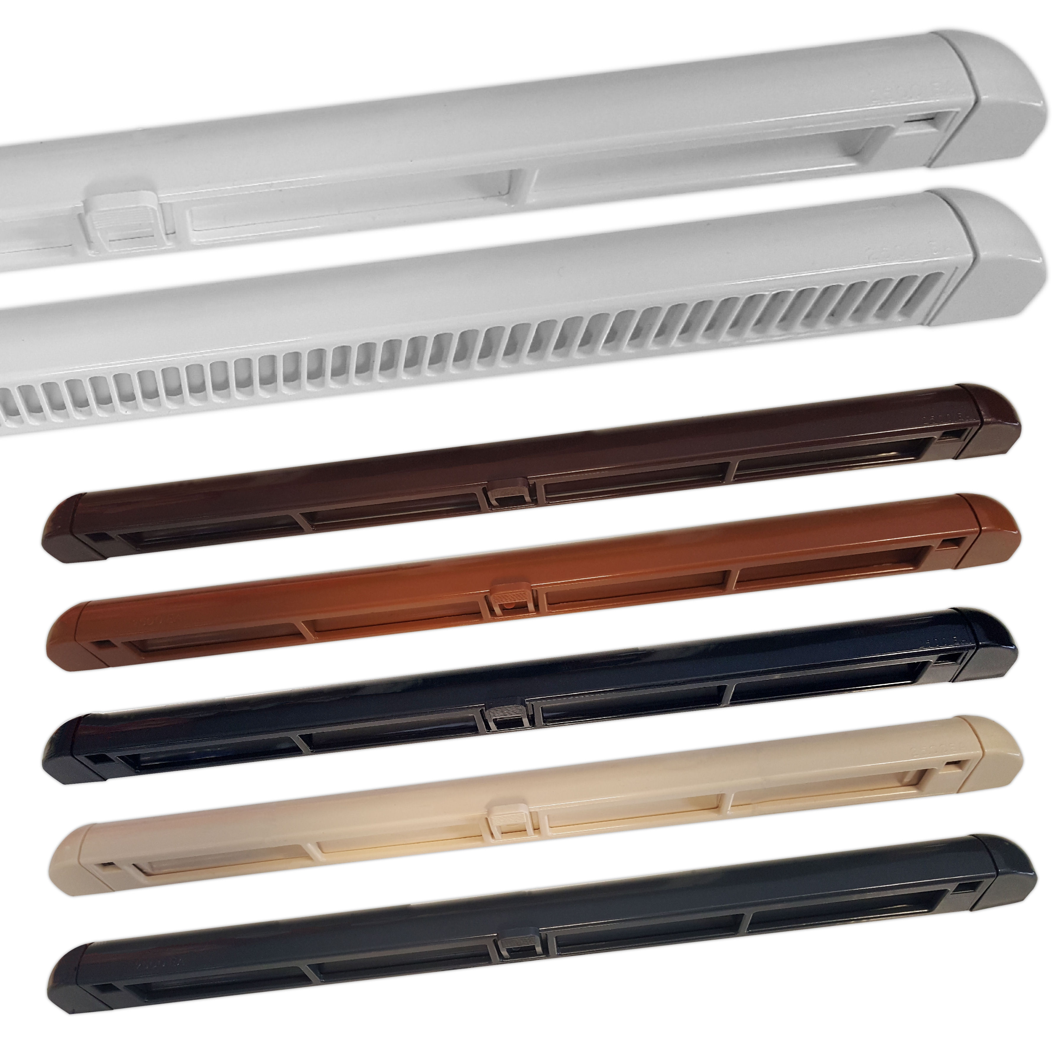 Brookvent Premium Window Trickle Slot Air Vent White Brown Black Grey for UPVC /& Timber Windows 249mm 315mm 249mm, Grey