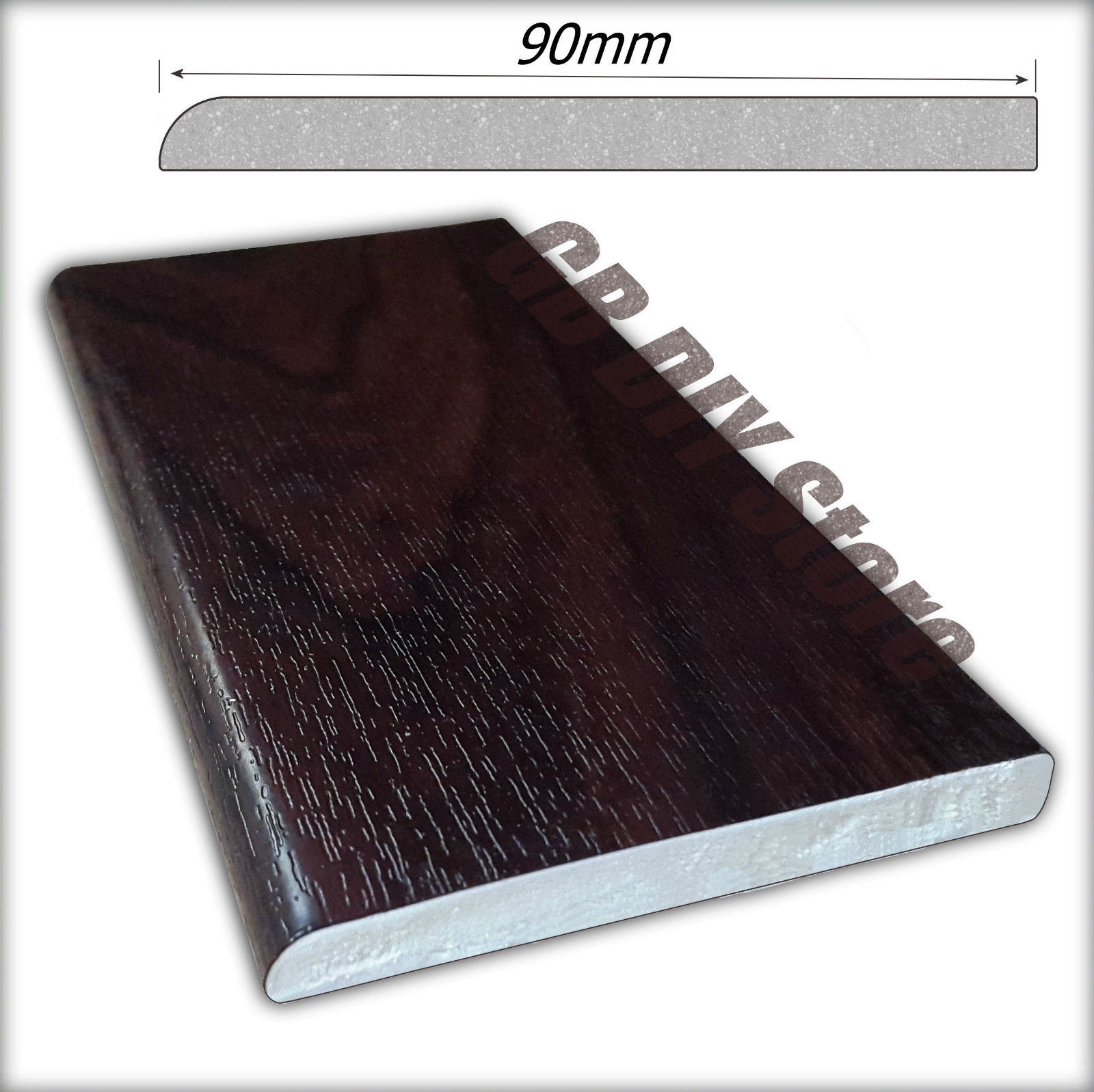Upvc Window And Door Trim Architrave Rosewood Brown Pvc 5m