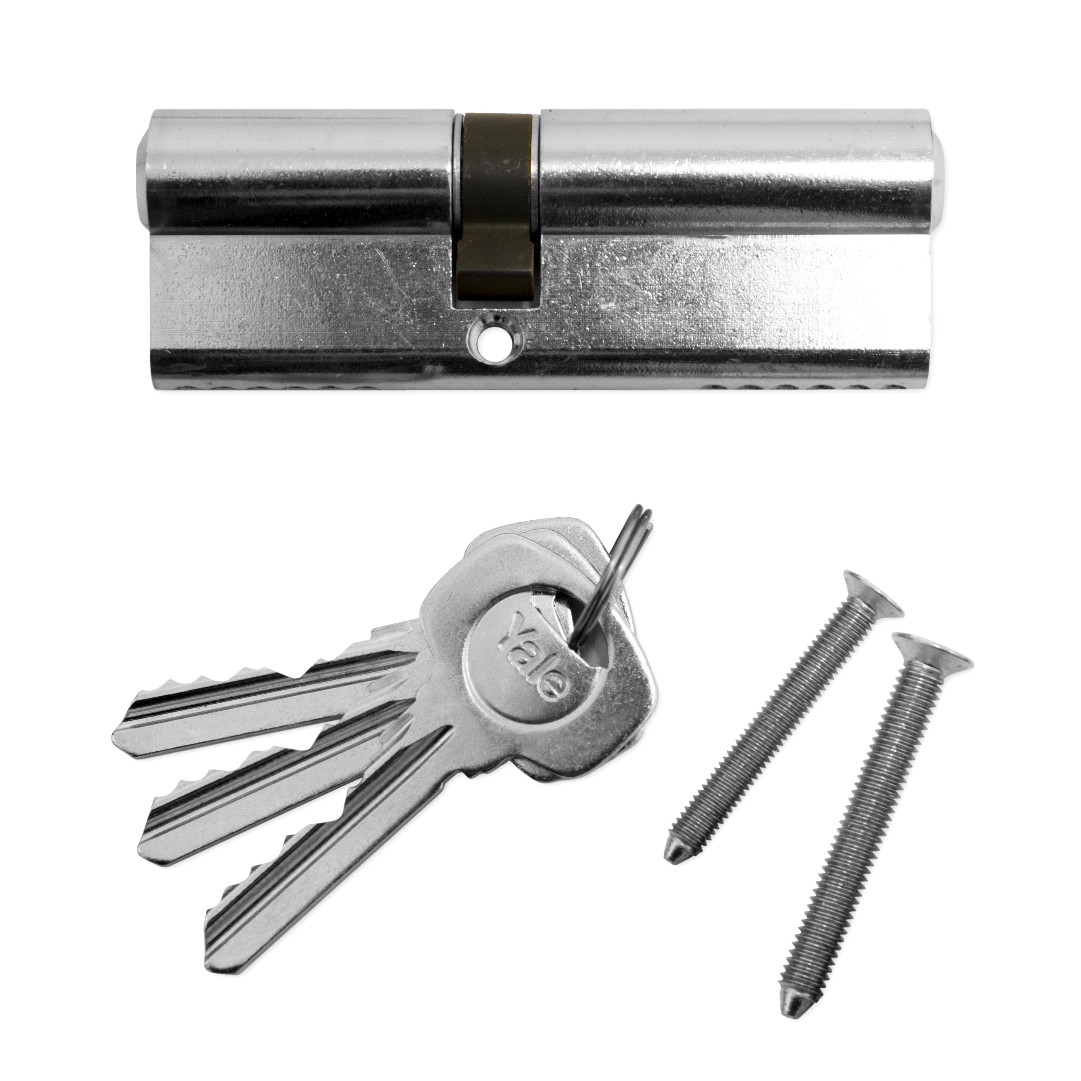 Yale euro cylinder lock upvc aluminium timber door barrel for Door yale lock