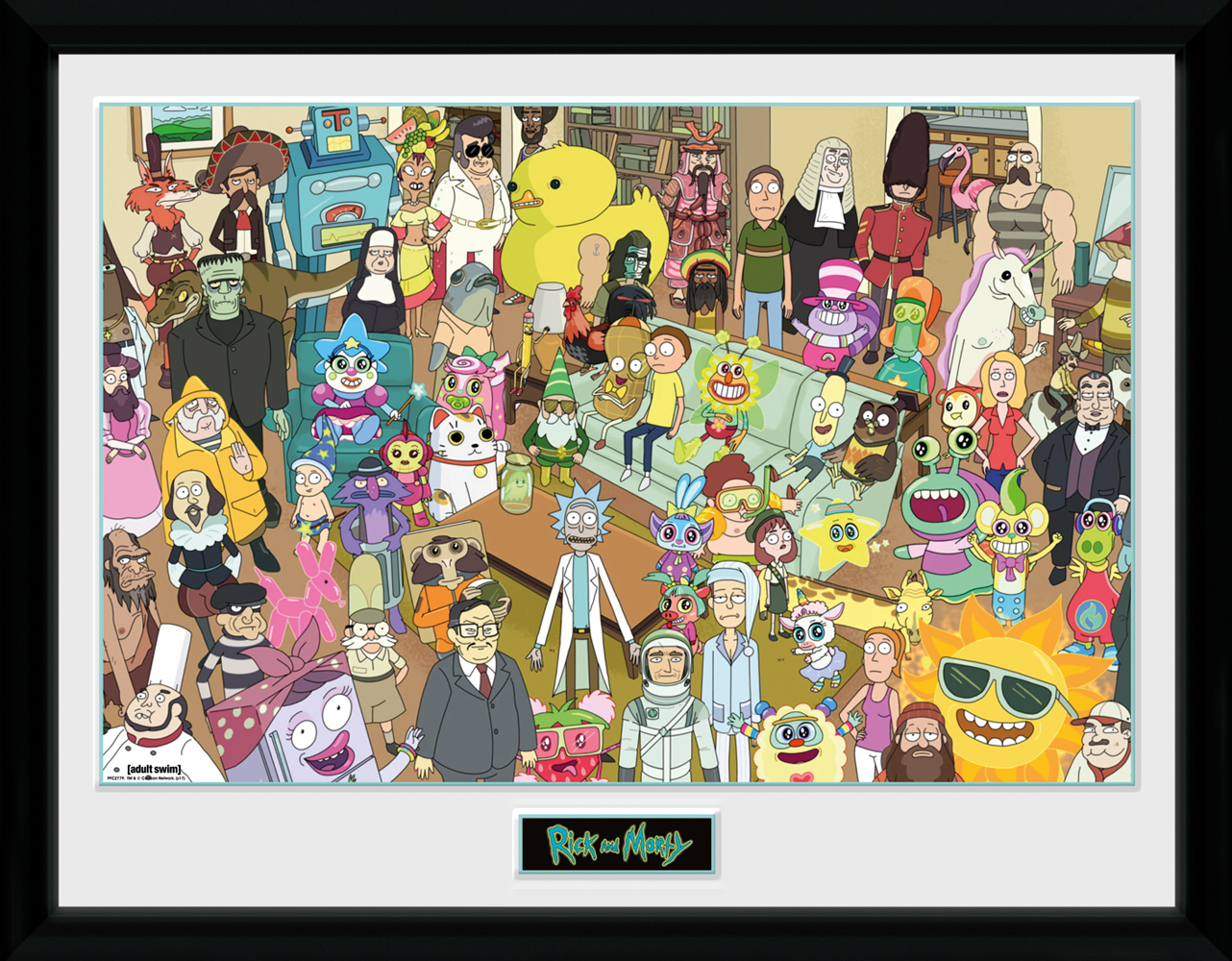 Rick and Morty Ship Framed Collector Print 30x40cm12x16