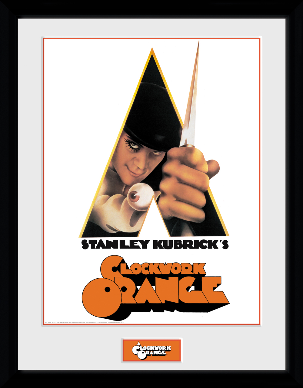 Details about Clockwork Orange Key Art White Framed Collector Print 30x40cm  | 12x16