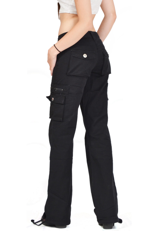 Women's Stretch Cargo Pants Black | Women's Pants | Dickies |Black Cargo Pants For Girls
