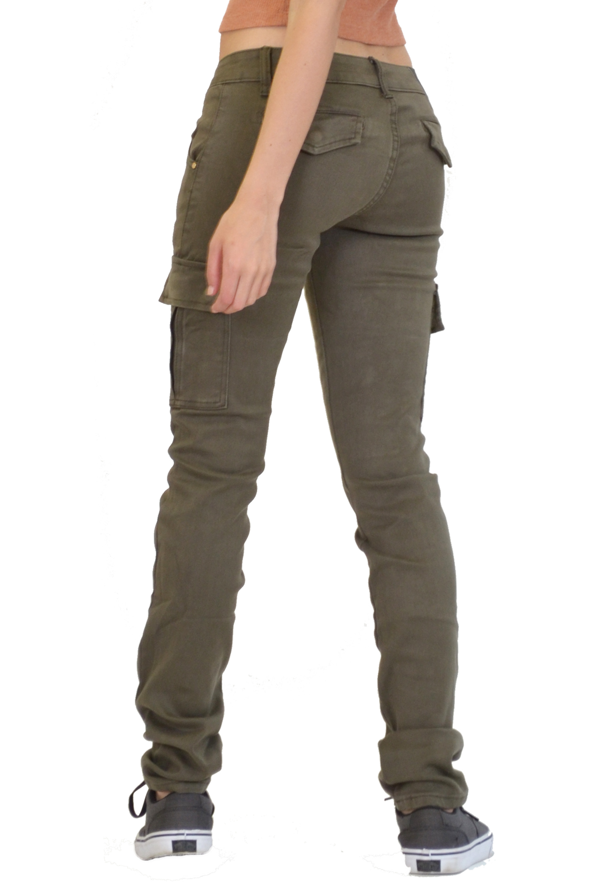 Super discount sale uk superior materials Details about New Womens Ladies Slim Fitted Stretch Combat Jeans Pants  Skinny Cargo Trousers