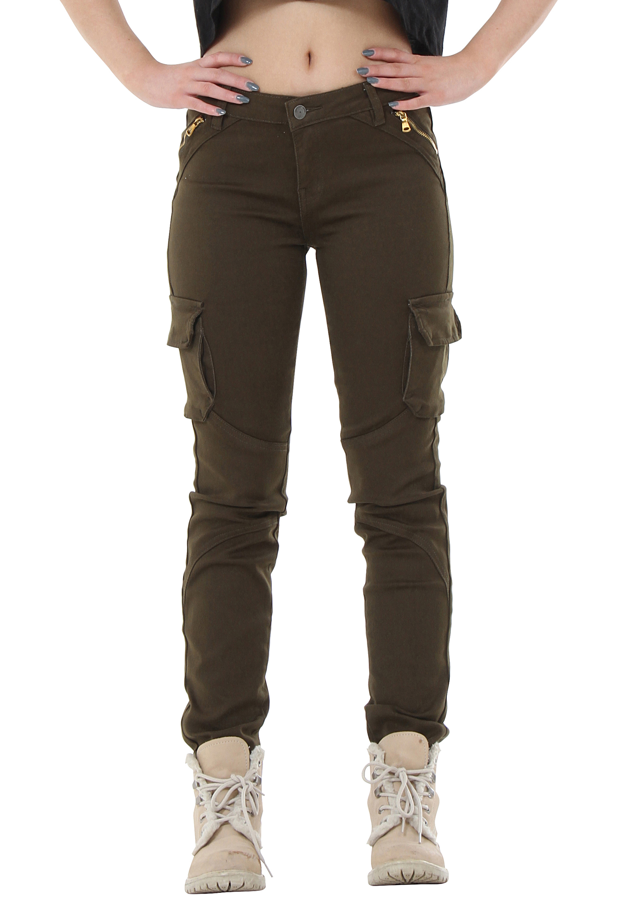 Almost Famous Buckle Cargo Girls Jogger Pants  |Black Cargo Pants For Girls