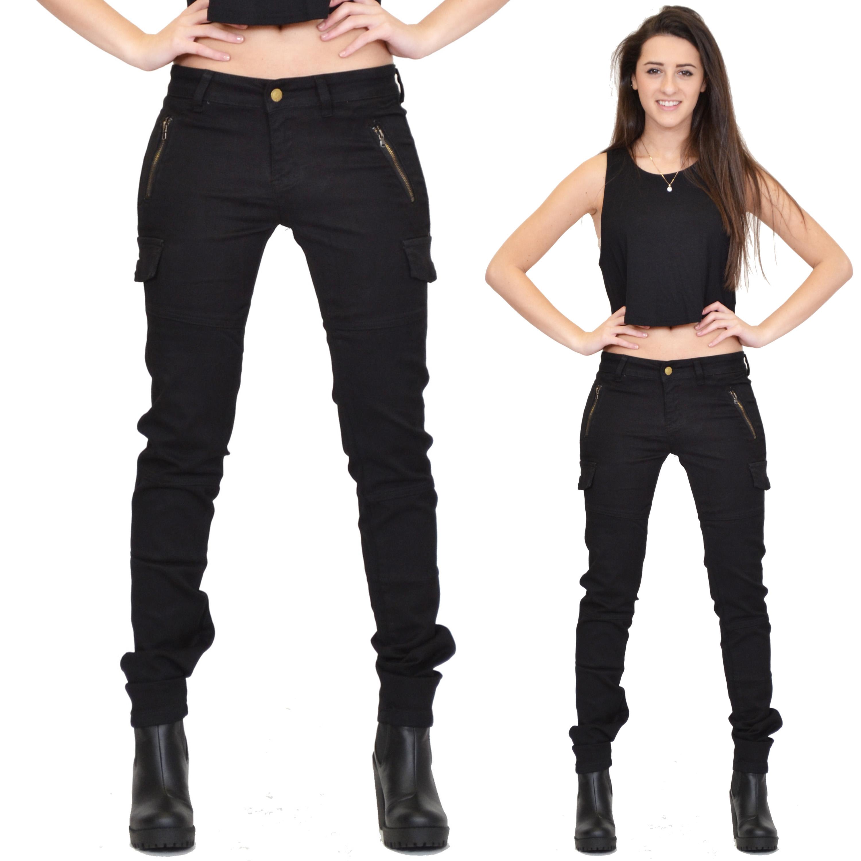 Black Plain Cargo Pants | Missguided  |Black Cargo Pants For Girls