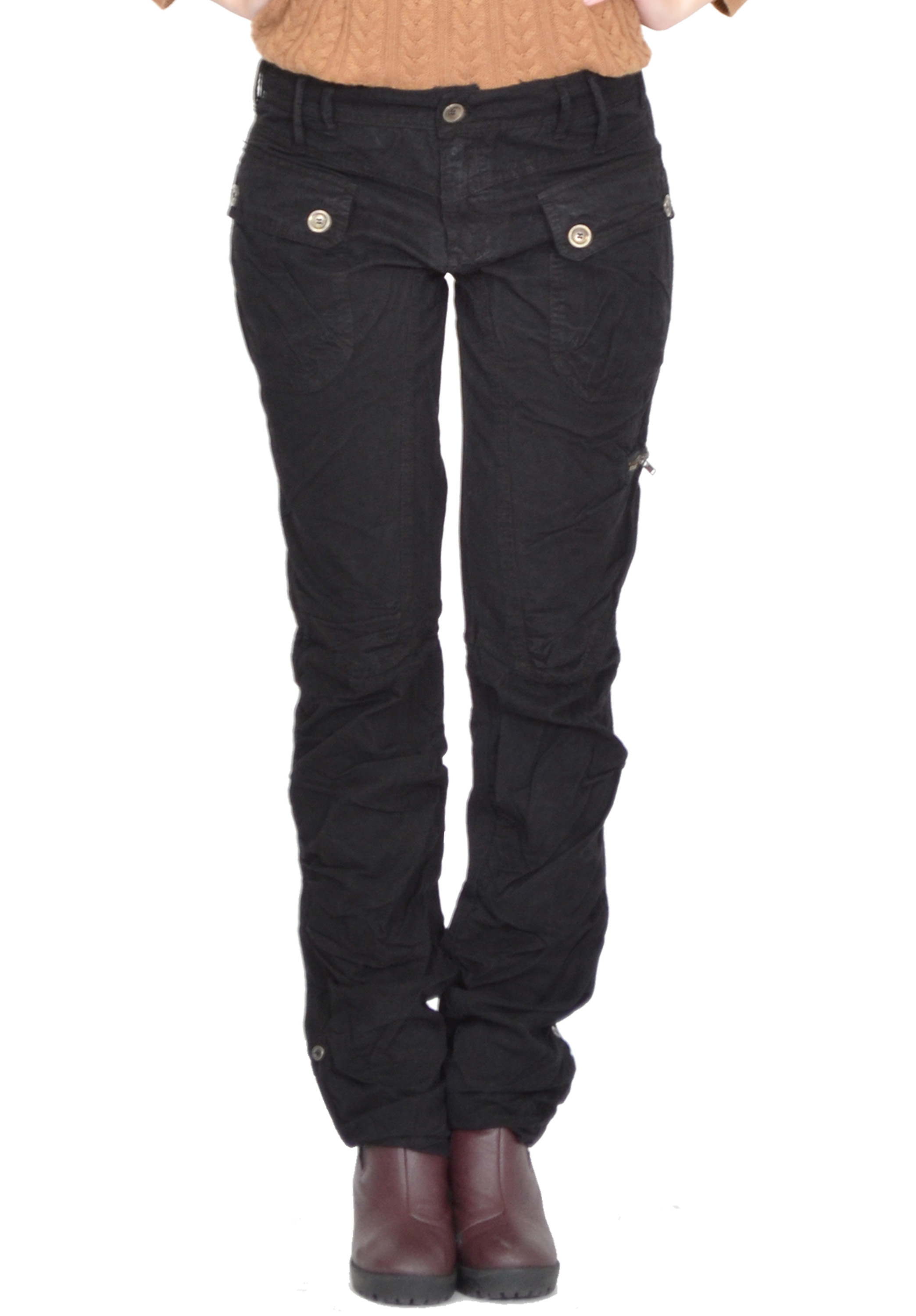 Book Of Black Straight Leg Pants Womens In Germany By