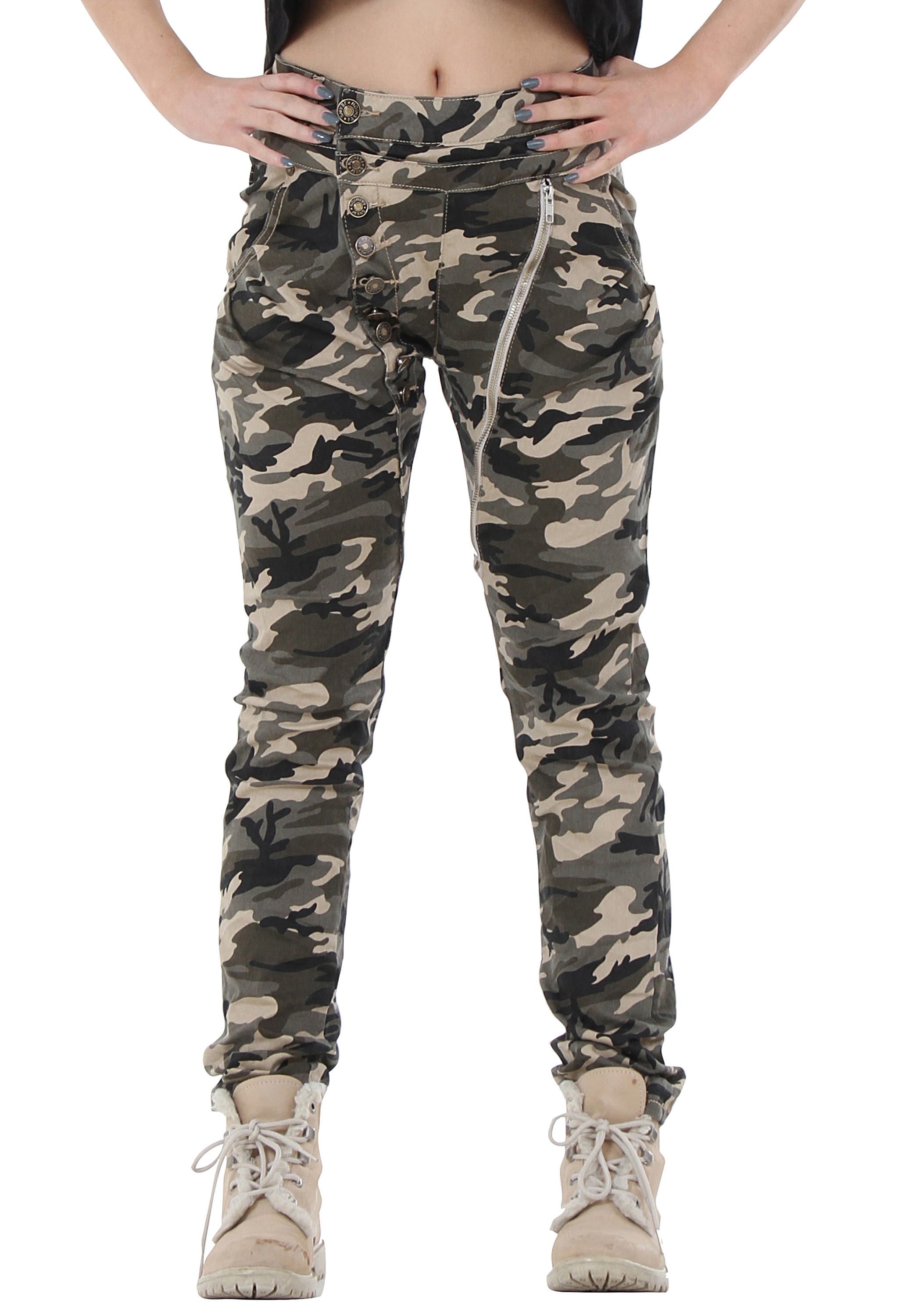 New Womens Army Military Camouflage Trousers Slim Fitted ...