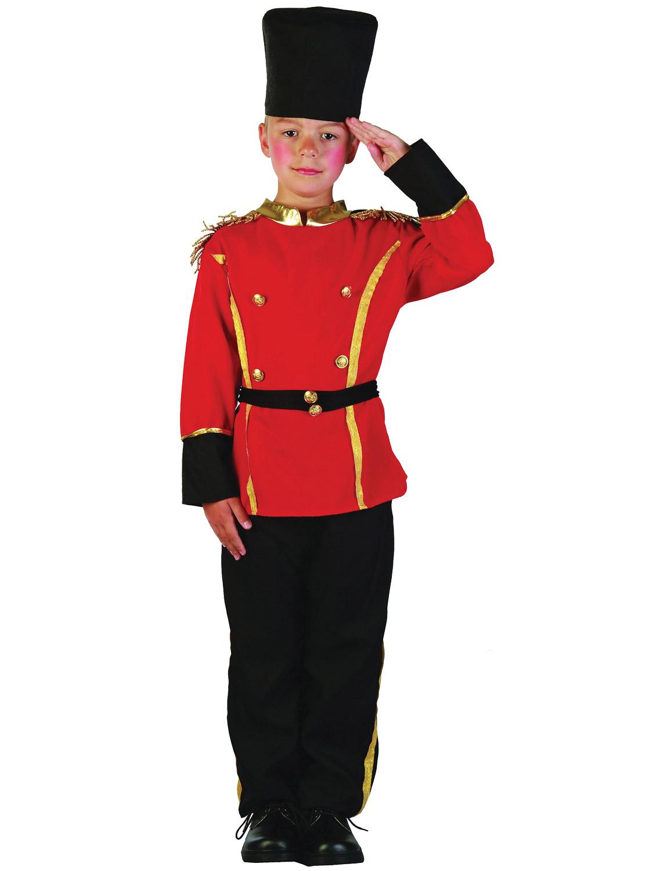 London Busby Costume Da Guardia Ragazzi SOLDATO ROYAL Costume Outfit Età 4-12