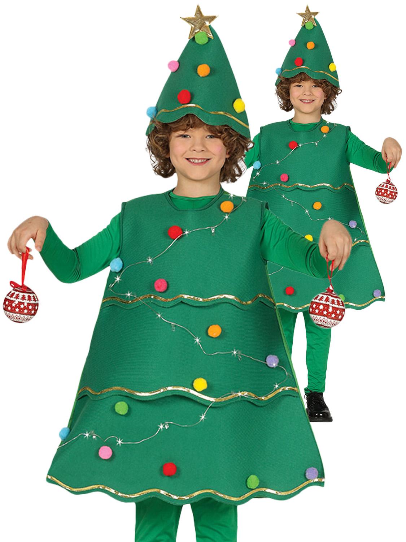 Kids Light Up Christmas Tree Costume Boys Girls Xmas Fancy Dress Xmas Outfit Ebay