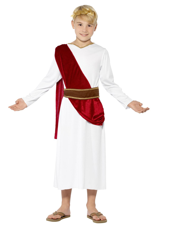 Childs Caesar Fancy Dress Greek Roman Costume Boys Book week 3 Sizes fits 4-12