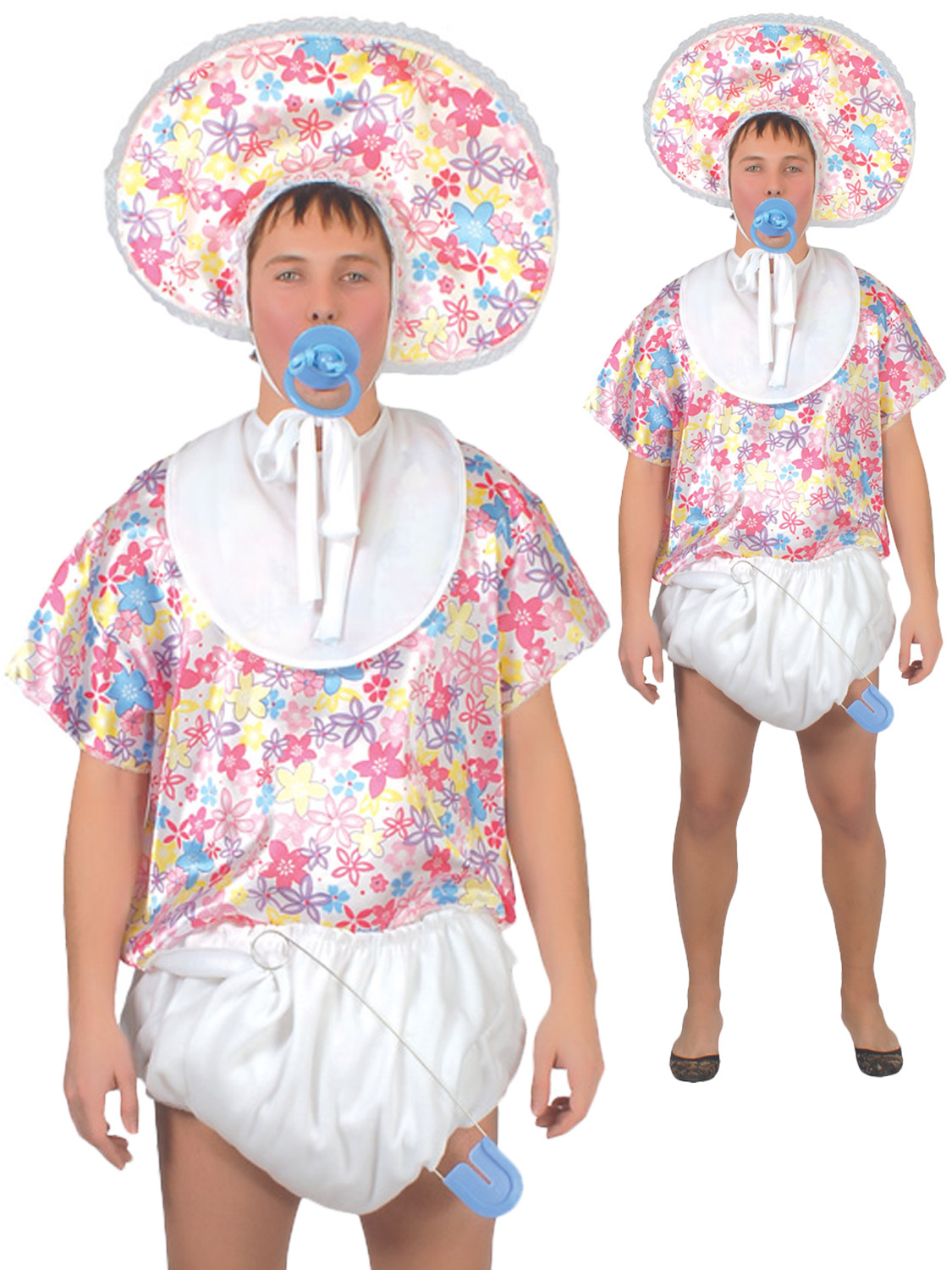 Mens Adult Baby Fancy Dress Costume Stag Party Funny Joke Groom Outfit