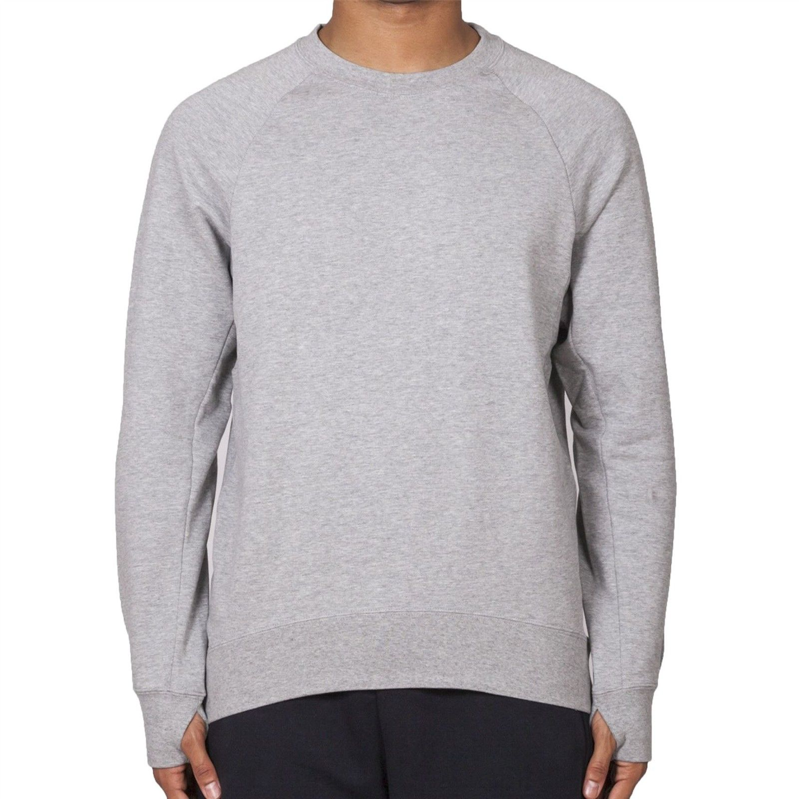 new appearance hot sale online authorized site Details about Nike Men's SB Everett Overlay Long Sleeve Crew Neck Storm  Cuff Grey Sweatshirt