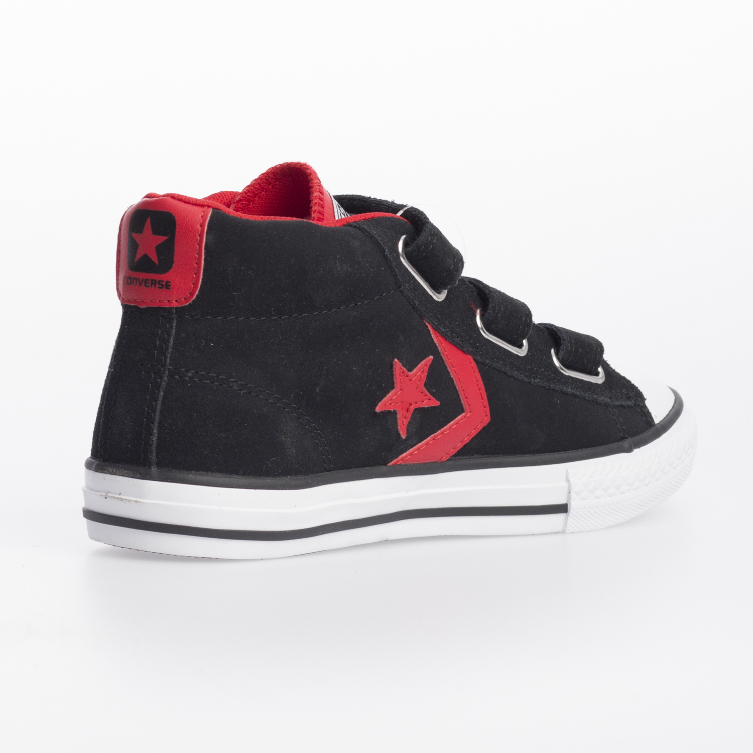 converse star player junior 3v leather mid