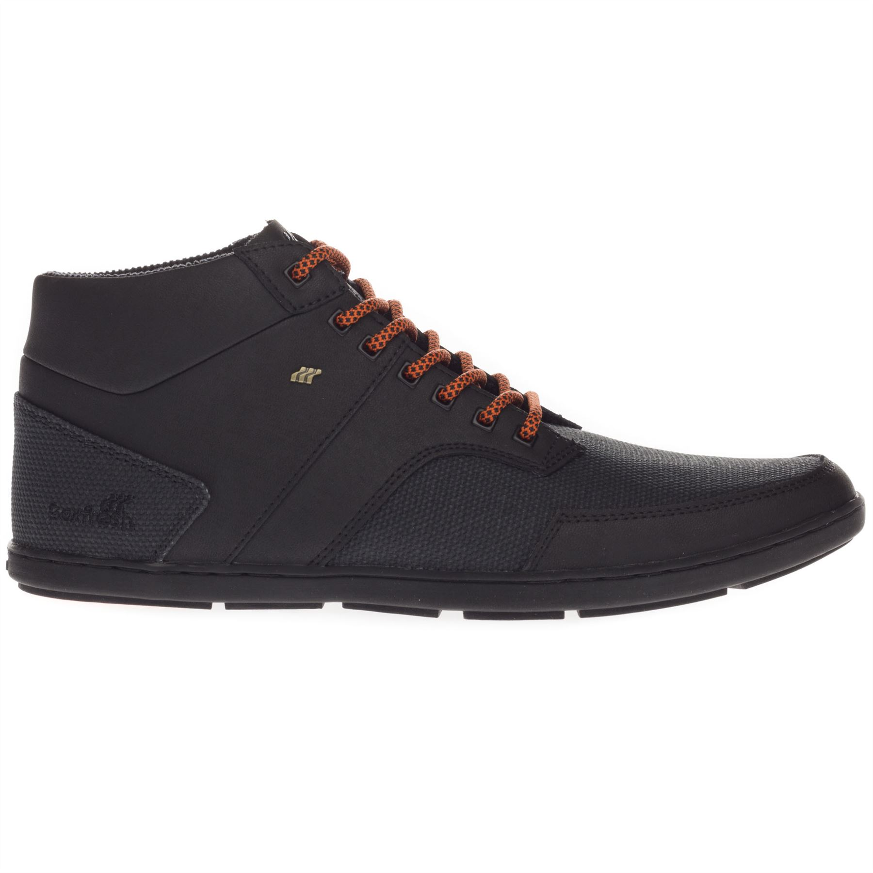 Boxfresh Men/'s Ampton Leather Hi Top Casual Strap Trainers Shoes Black Brown