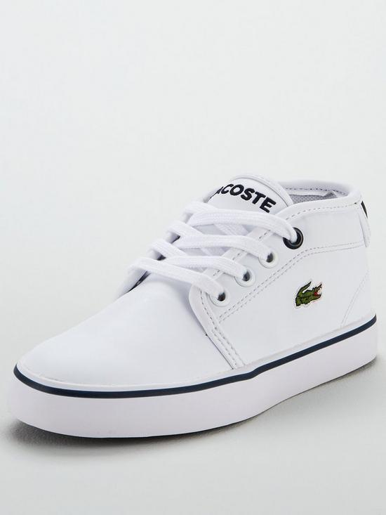 Lacoste Kids Ampthill Trainers White