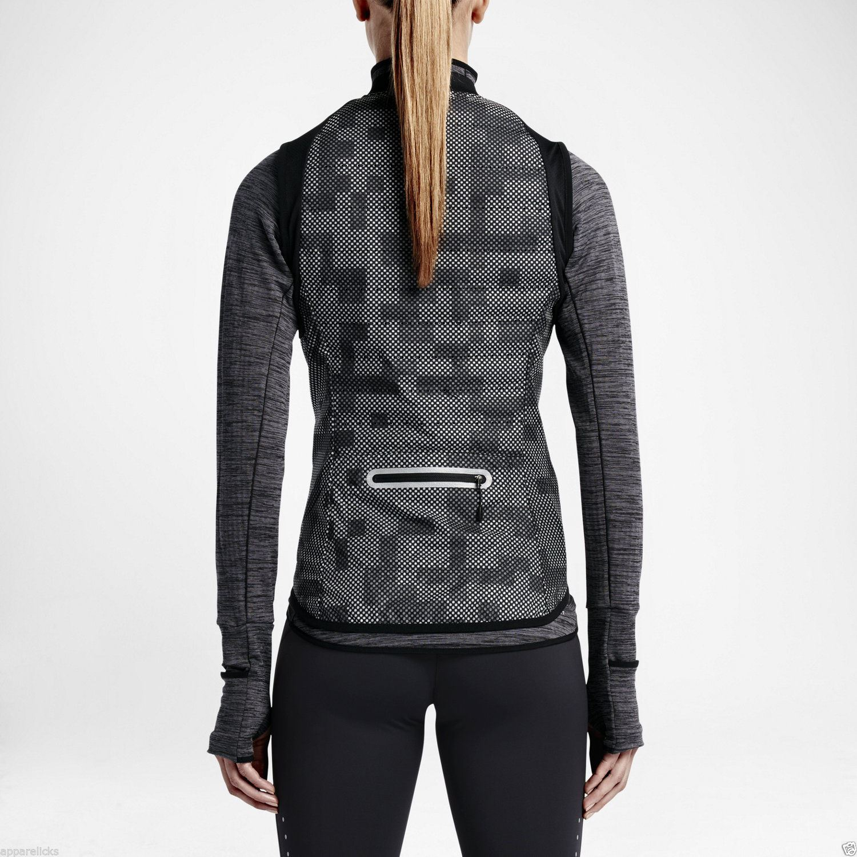 nike women 39 s aeroloft flash black reflective activewear running jogging vest top ebay. Black Bedroom Furniture Sets. Home Design Ideas