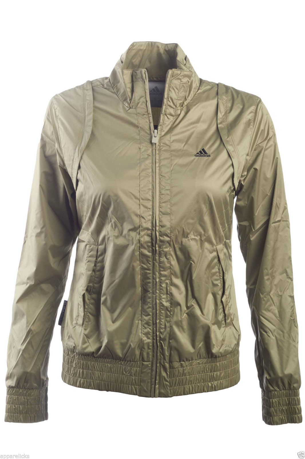 Details about Adidas Women's ClimaProof Women's Woven Jacket Champagne Lightweight