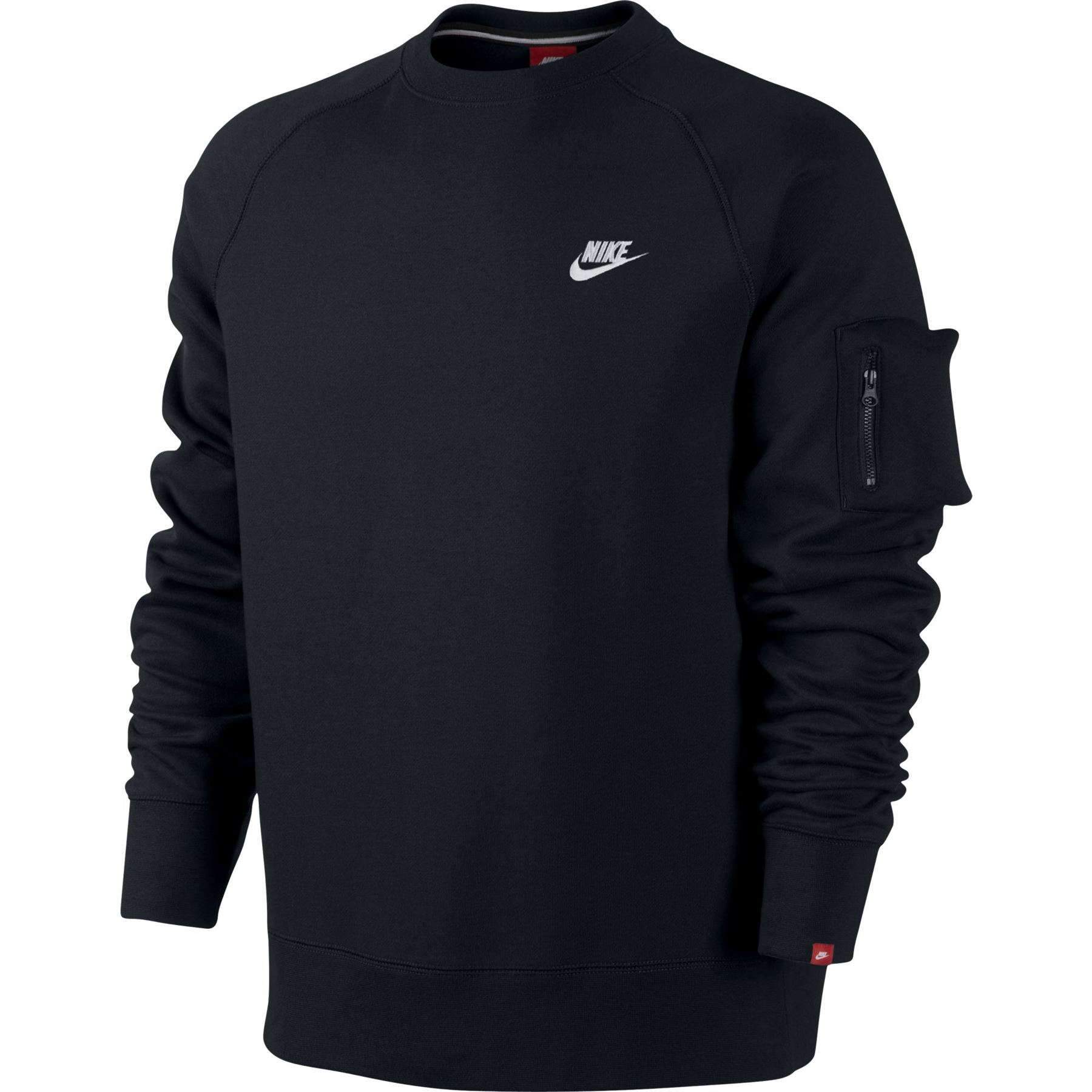 517b1dae2f84 plain black nike jumper Sale