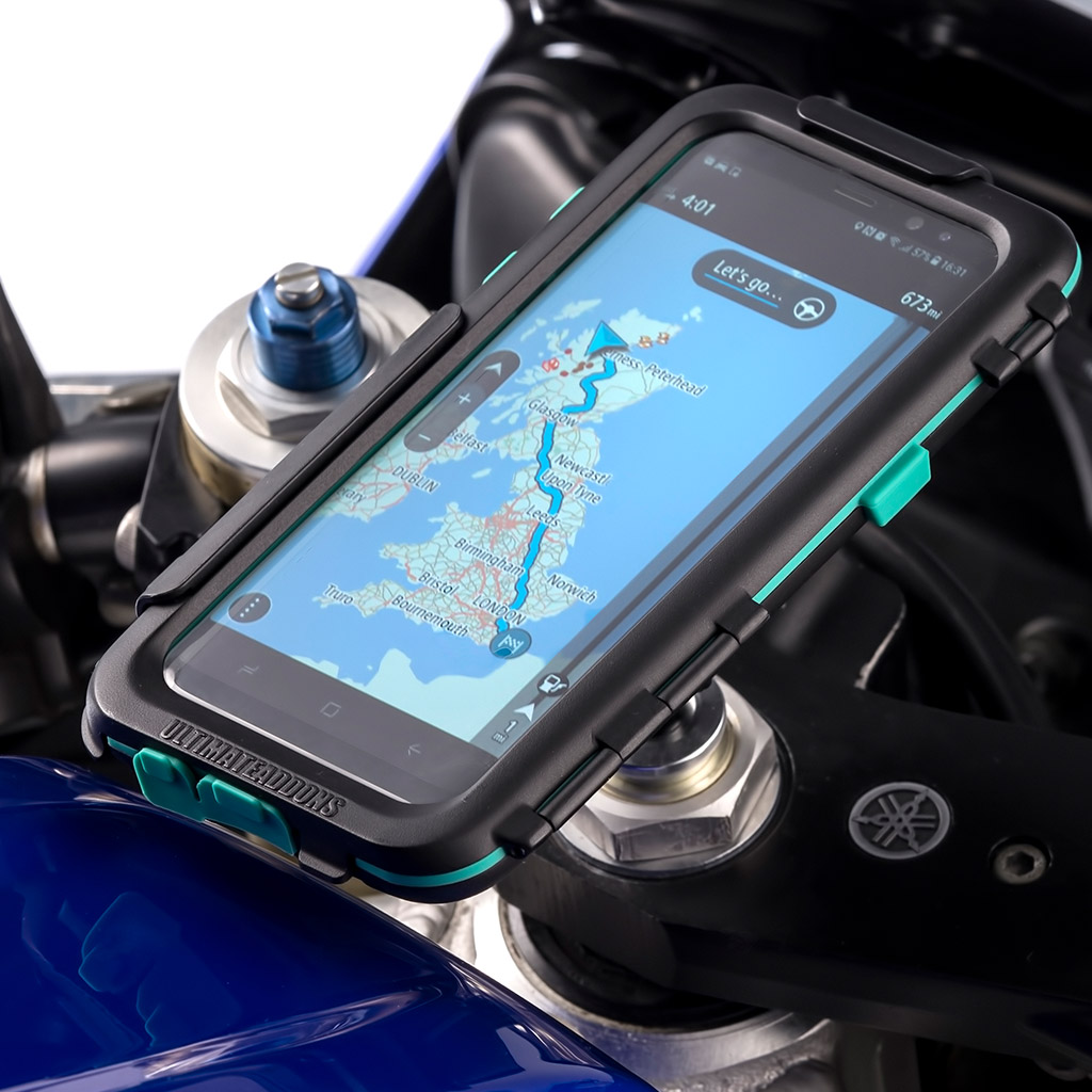 official photos 9f330 b8267 Details about Motorcycle Fork Stem Bike Mount + Waterproof Tough Case for  Samsung Galaxy S8+