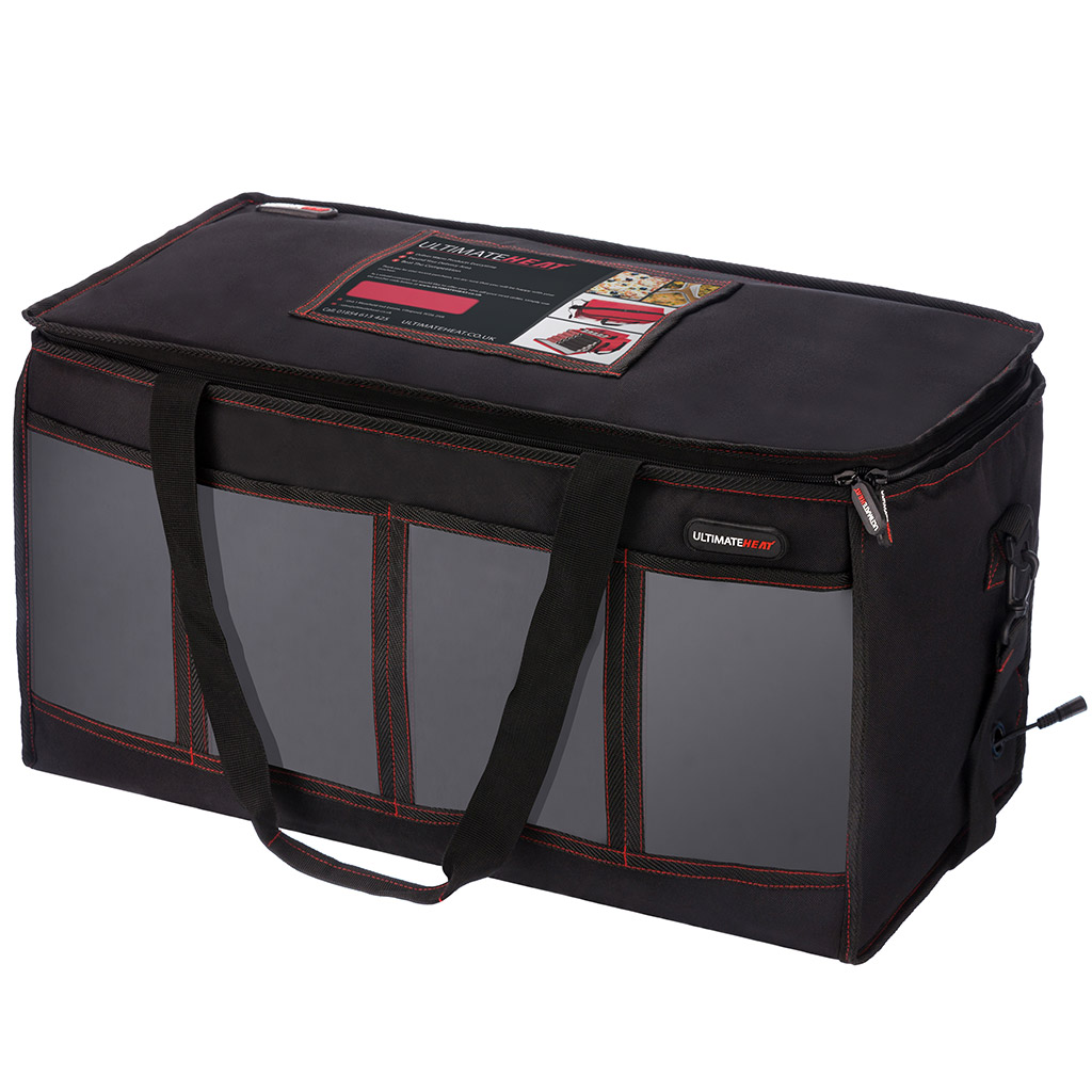 Car 12v Large Heated Indian Chinese Take Away Hot Food Insulated Delivery Bag