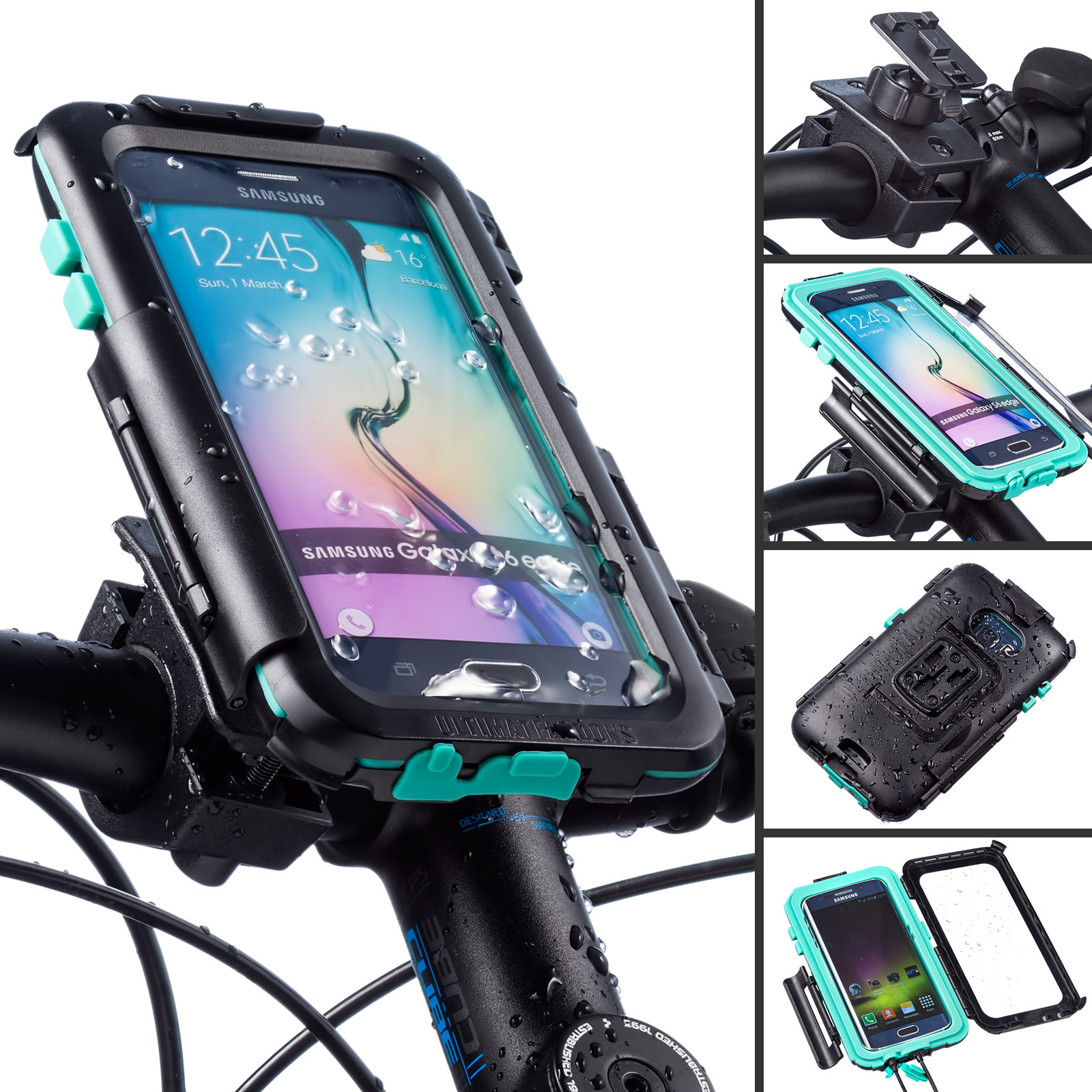 first rate ec649 7b01f Details about Ultimateaddons Bicycle Bike Mount and Tough Waterproof Case  for Galaxy S6 Edge