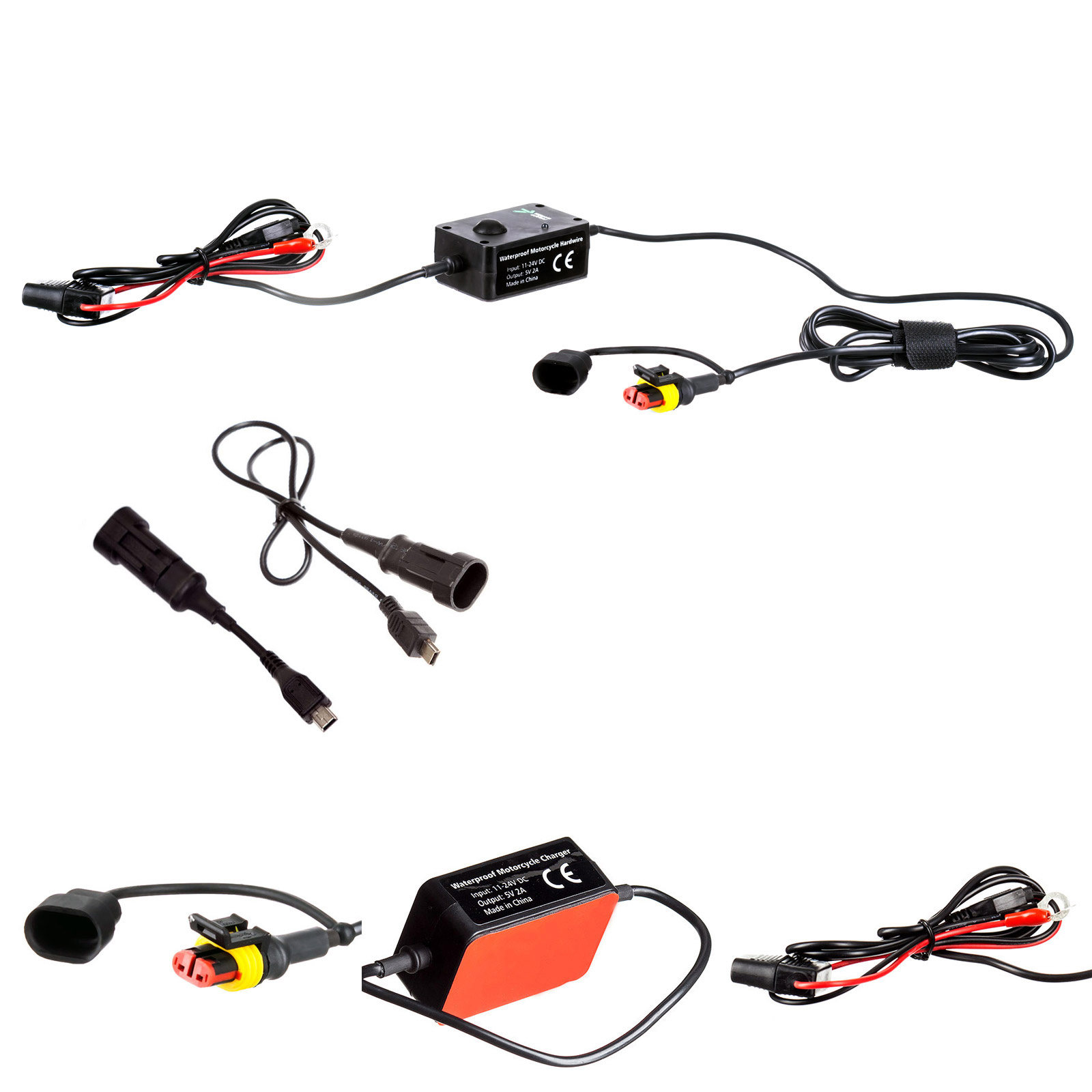 Ultimateaddons Motorcycle Hard Wire Direct Battery Mobile Phone Sat ...
