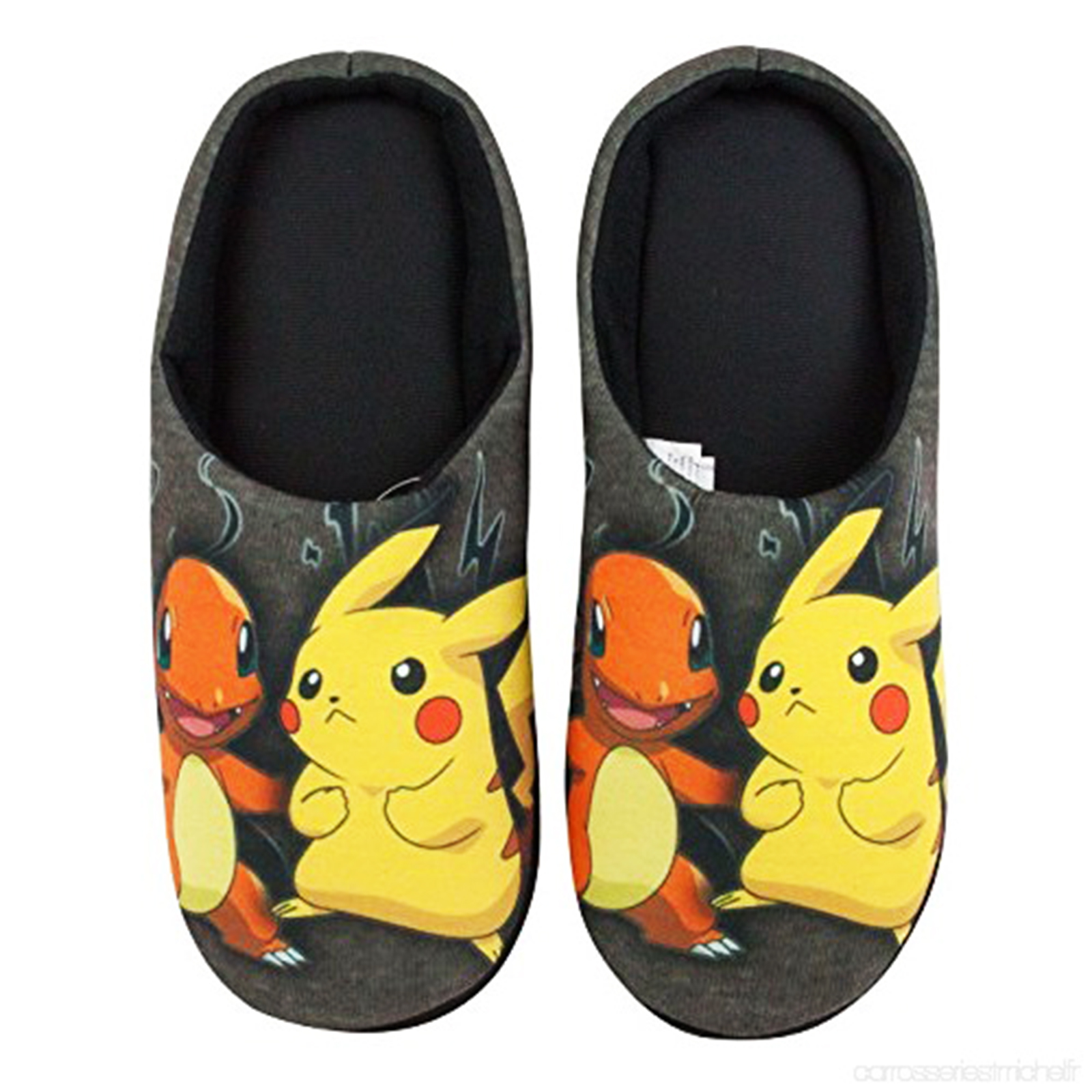 MENS-NOVELTY-POKEMON-HUXLEY-SLIPPERS-SLIP-ON-WARM-COMFY-MULES-XMAS-GIFT-UK-7-12 thumbnail 5