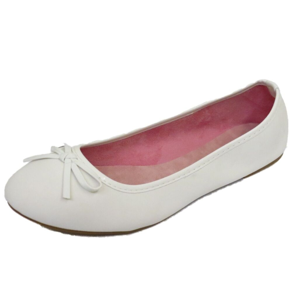 Details zu LADIES FLAT WHITE SLIP ON SHOES DOLLY COMFY BALLET BALLERINA CASUAL PUMPS UK 3 8 ZxyW3