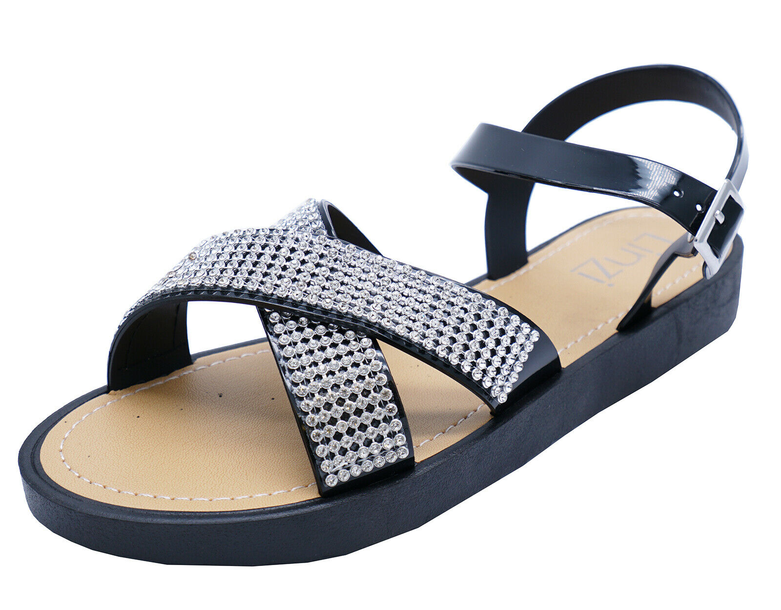 WOMENS BLACK DUNLOP SLIP-ON POOL BEACH HOLIDAY SLIDER MULES SANDALS SHOES 3-8