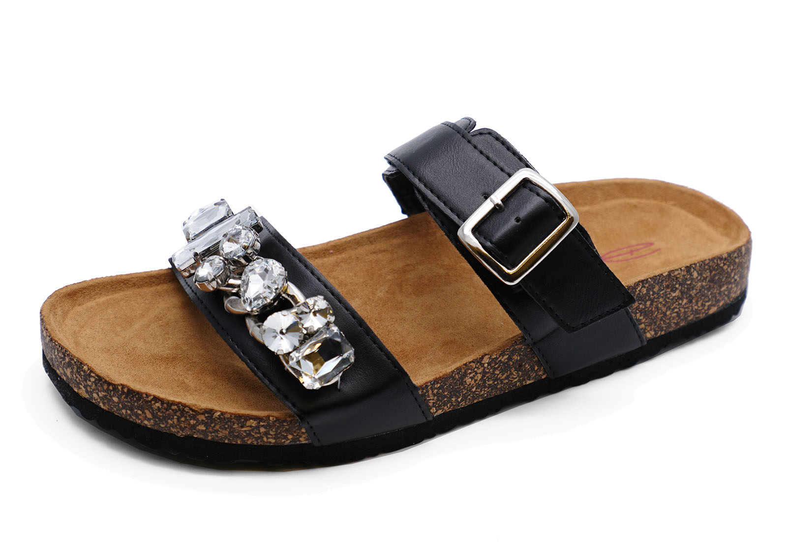 LADIES DOLCIS REESE BLACK FLAT COMFY WALKING SANDALS TOE-POST HOLIDAY SHOES 3-8