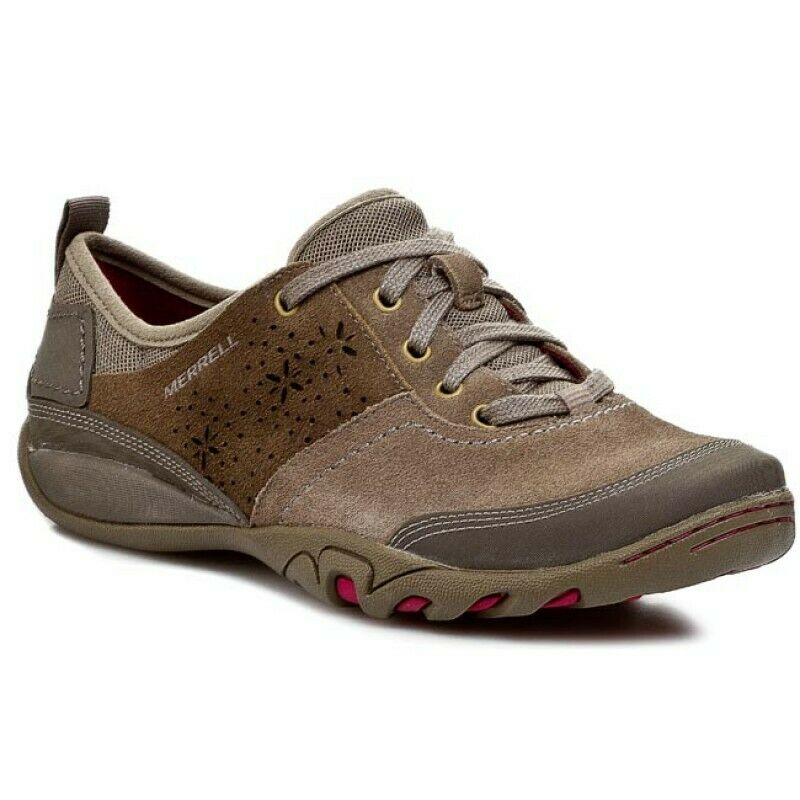 LADIES MERRELL BROWN SUEDE LEATHER
