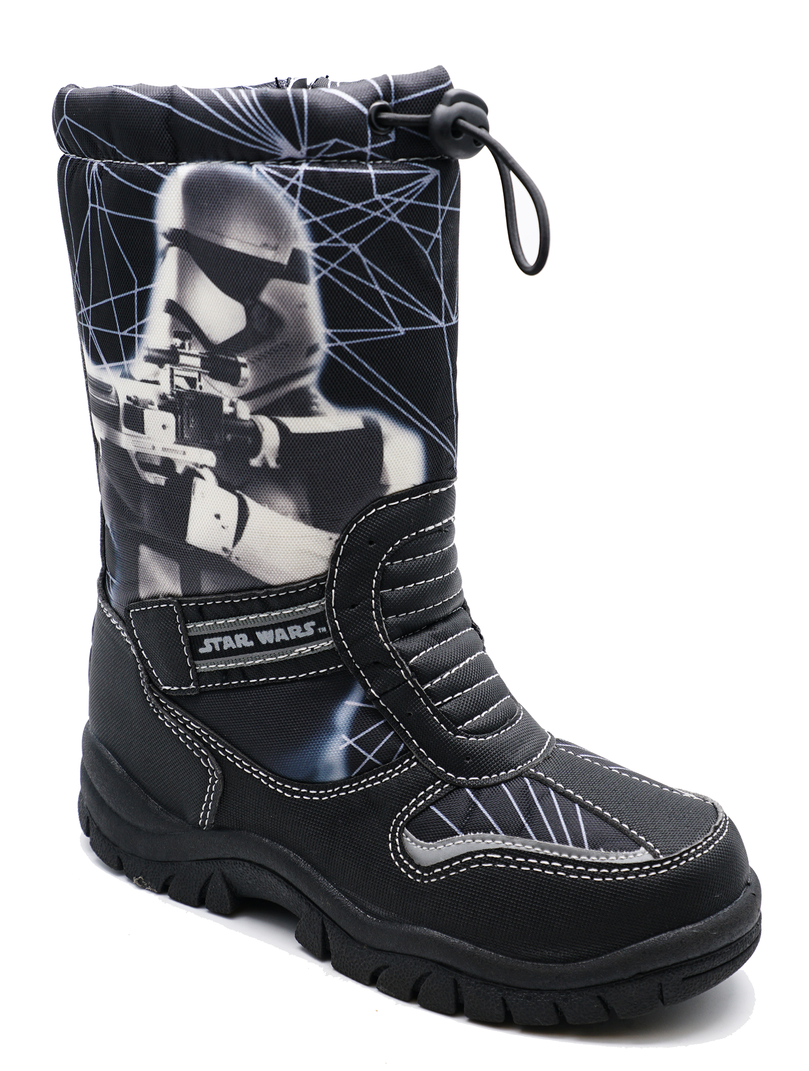 thumbnail 9 - BOYS-KIDS-CHILDRENS-STAR-WARS-WARM-WINTER-RAIN-SPLASH-SNOW-BOOTS-WELLIES-8-2