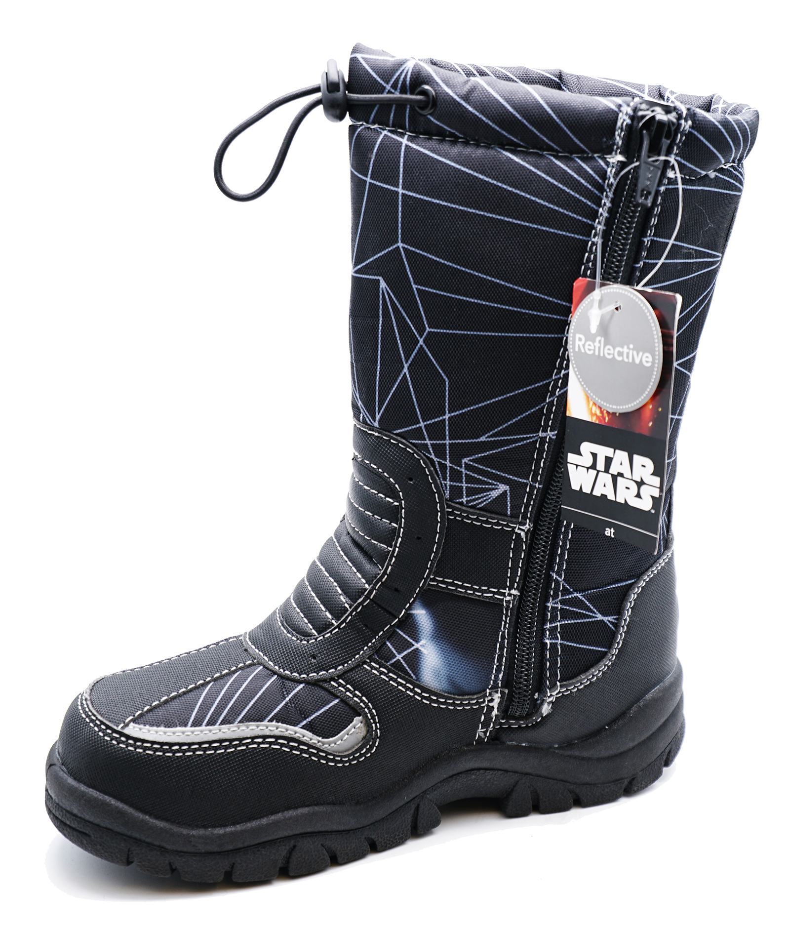 thumbnail 8 - BOYS-KIDS-CHILDRENS-STAR-WARS-WARM-WINTER-RAIN-SPLASH-SNOW-BOOTS-WELLIES-8-2
