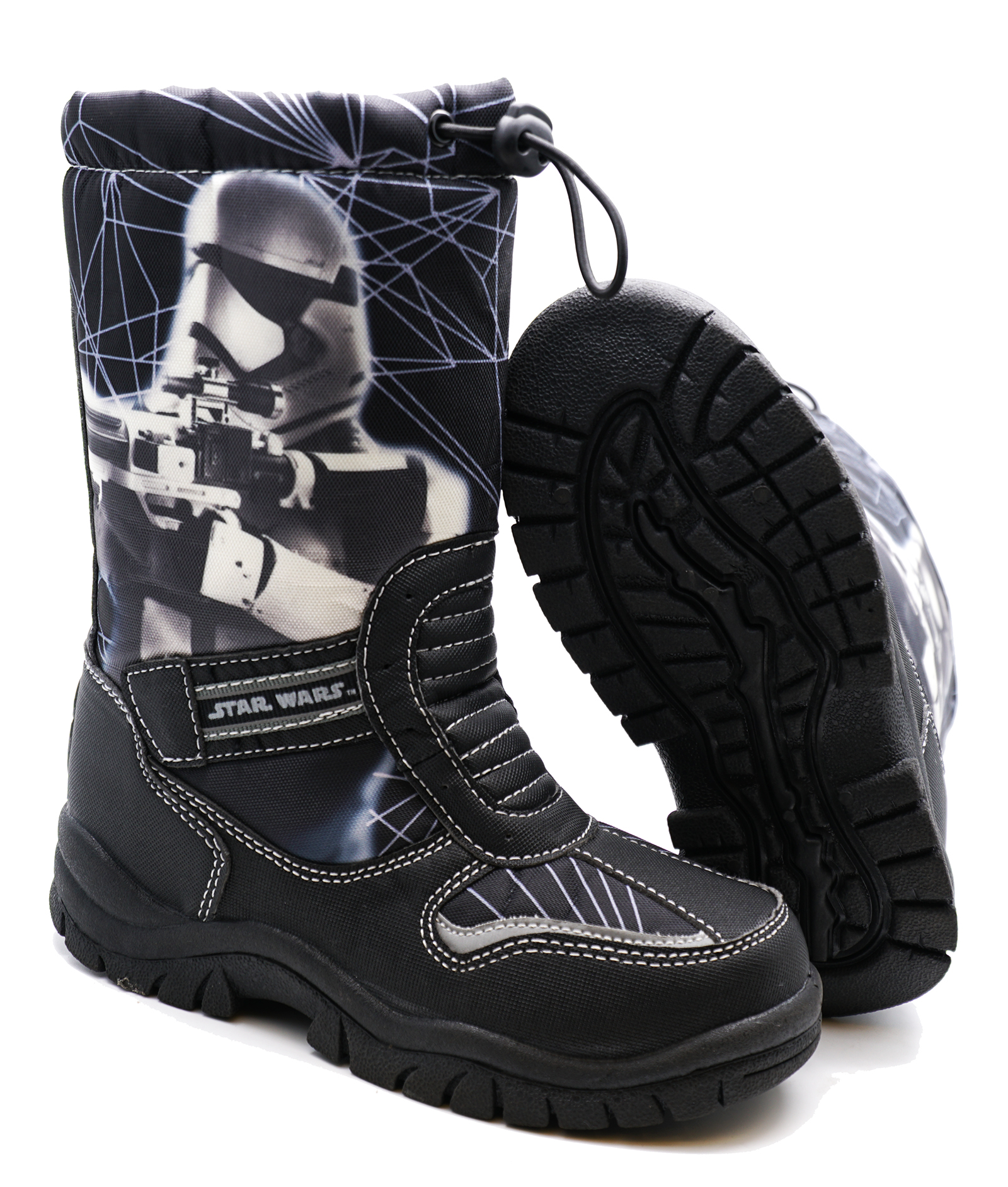thumbnail 11 - BOYS-KIDS-CHILDRENS-STAR-WARS-WARM-WINTER-RAIN-SPLASH-SNOW-BOOTS-WELLIES-8-2