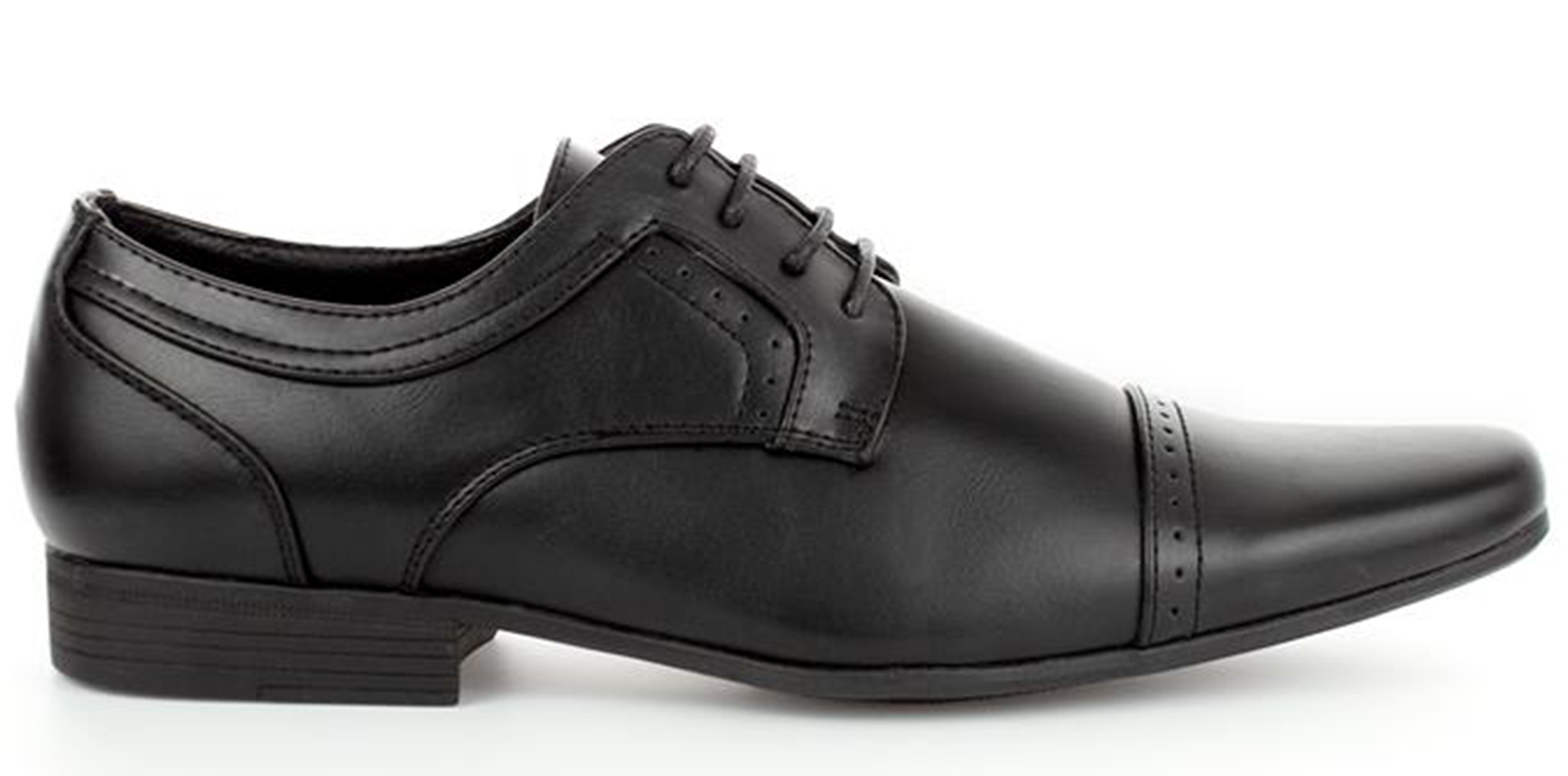 MENS-SMART-BLACK-LACE-UP-LOAFERS-MOCCASINS-WORK-WEDDING-SHOES-SIZES-6-11 thumbnail 6