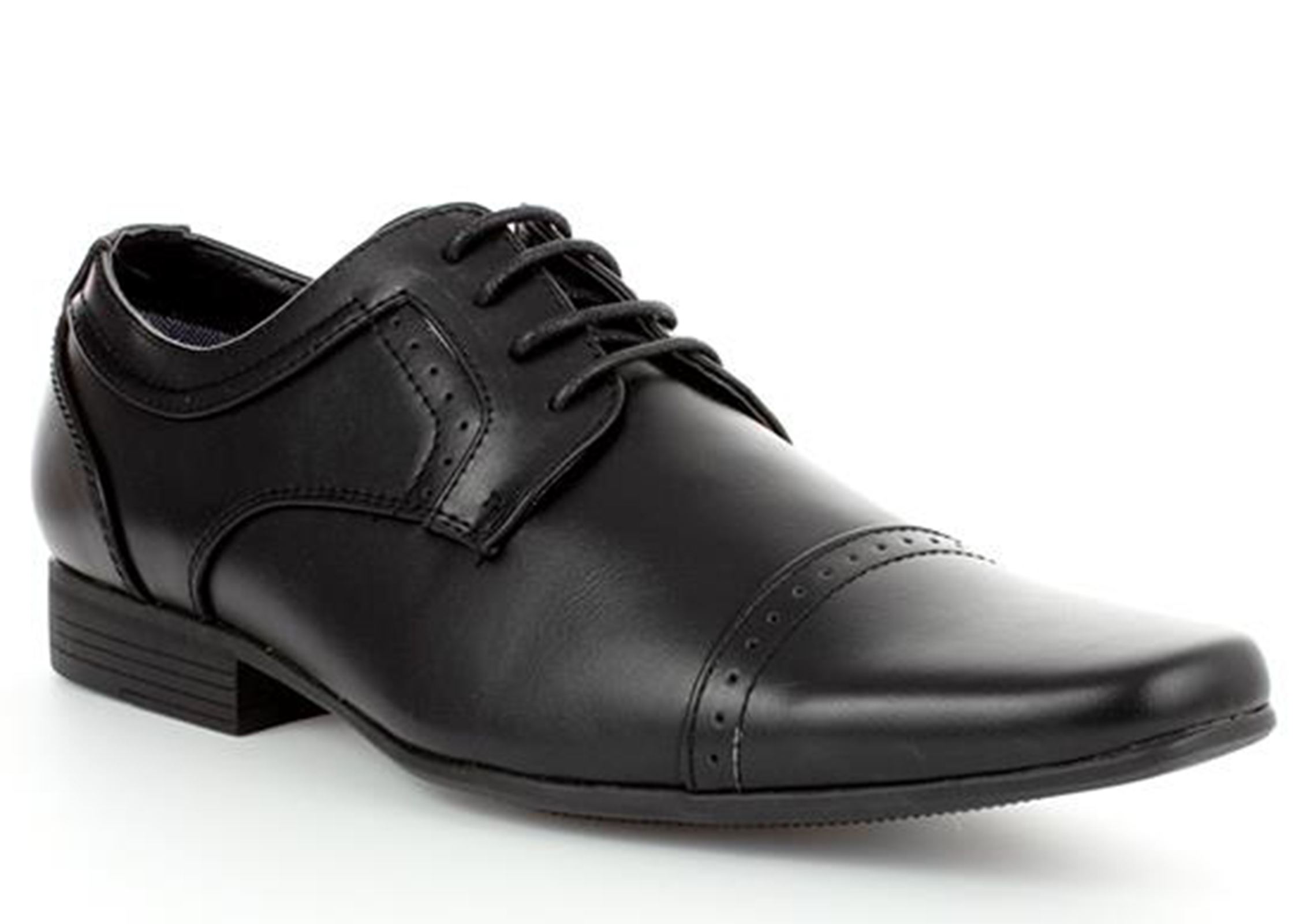 MENS-SMART-BLACK-LACE-UP-LOAFERS-MOCCASINS-WORK-WEDDING-SHOES-SIZES-6-11 thumbnail 5