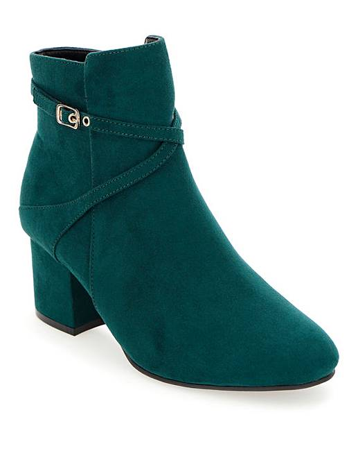 WOMENS TEAL EXTRA WIDE FIT EEE ANKLE