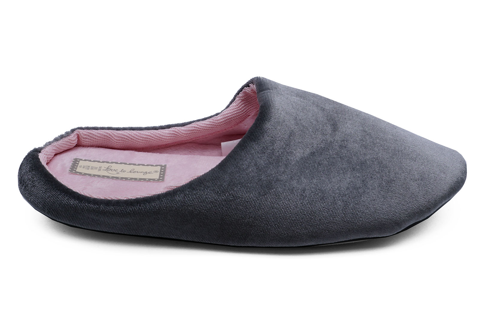 LADIES-GREY-SLIP-ON-COMFY-MULES-WARM-INDOOR-OUTDOOR-SLIPPERS-HOUSE-SHOES-3-8 thumbnail 5