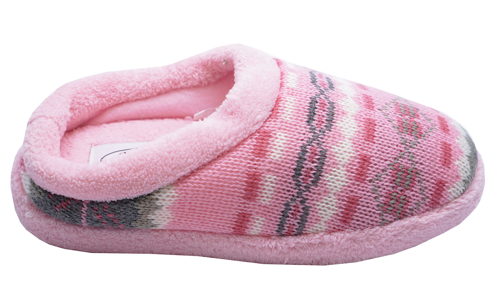 Kids Girls Winter Cosy Cute Slip On Slippers Mules Soft Warm Indoor Shoes Size