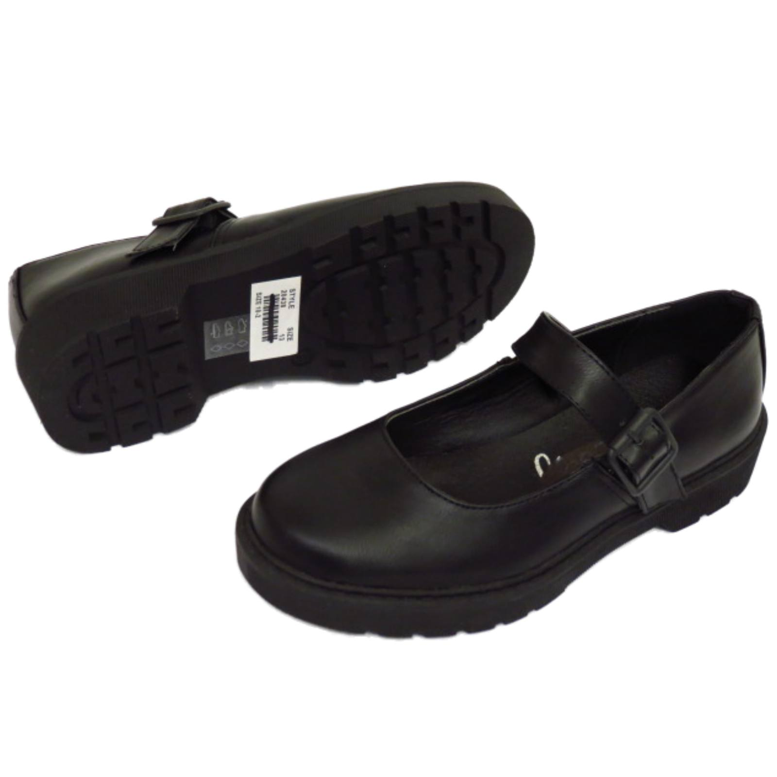 GIRLS-KIDS-CHILDRENS-BUCKLE-T-BAR-BLACK-SCHOOL-PUMPS-DOLLY-SMART-FLAT-SHOES-10-5 thumbnail 8