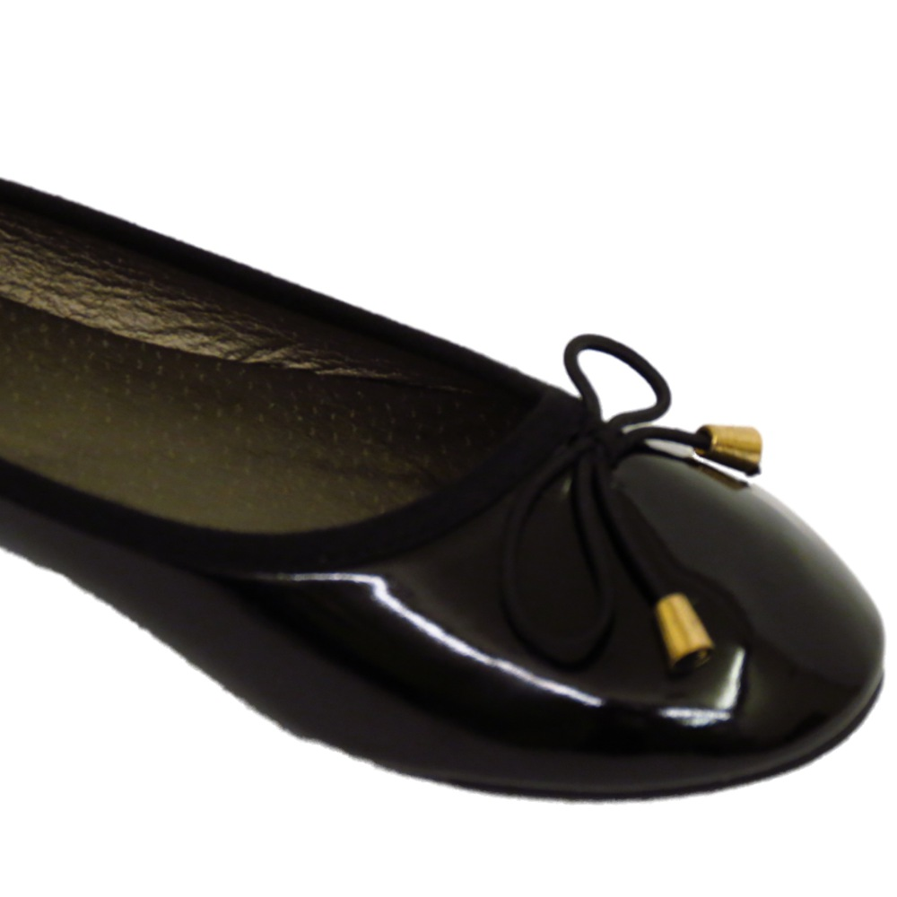 LADIES-FLAT-BLACK-PATENT-SLIP-ON-WORK-SCHOOL-SHOES-DOLLY-BALLET-PUMPS-SIZES-3-8 thumbnail 25