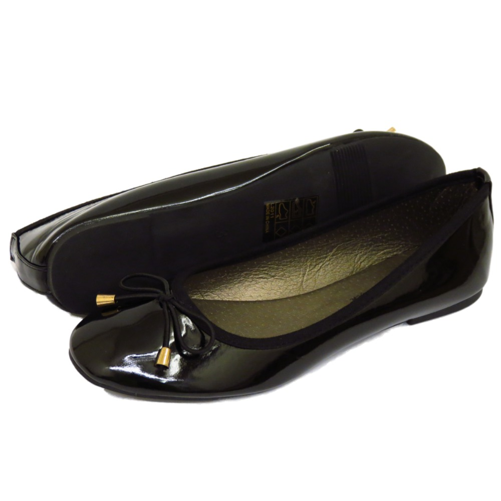 LADIES-FLAT-BLACK-PATENT-SLIP-ON-WORK-SCHOOL-SHOES-DOLLY-BALLET-PUMPS-SIZES-3-8 thumbnail 24