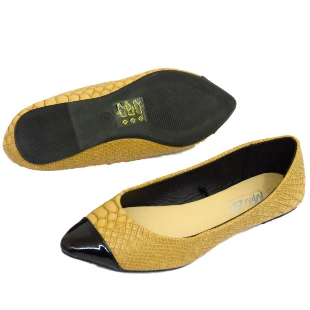 WOMENS FLAT TAN SLIP-ON COMFY DOLLY BALLET CASUAL PLIMSOLL PUMPS SHOES UK 3-9