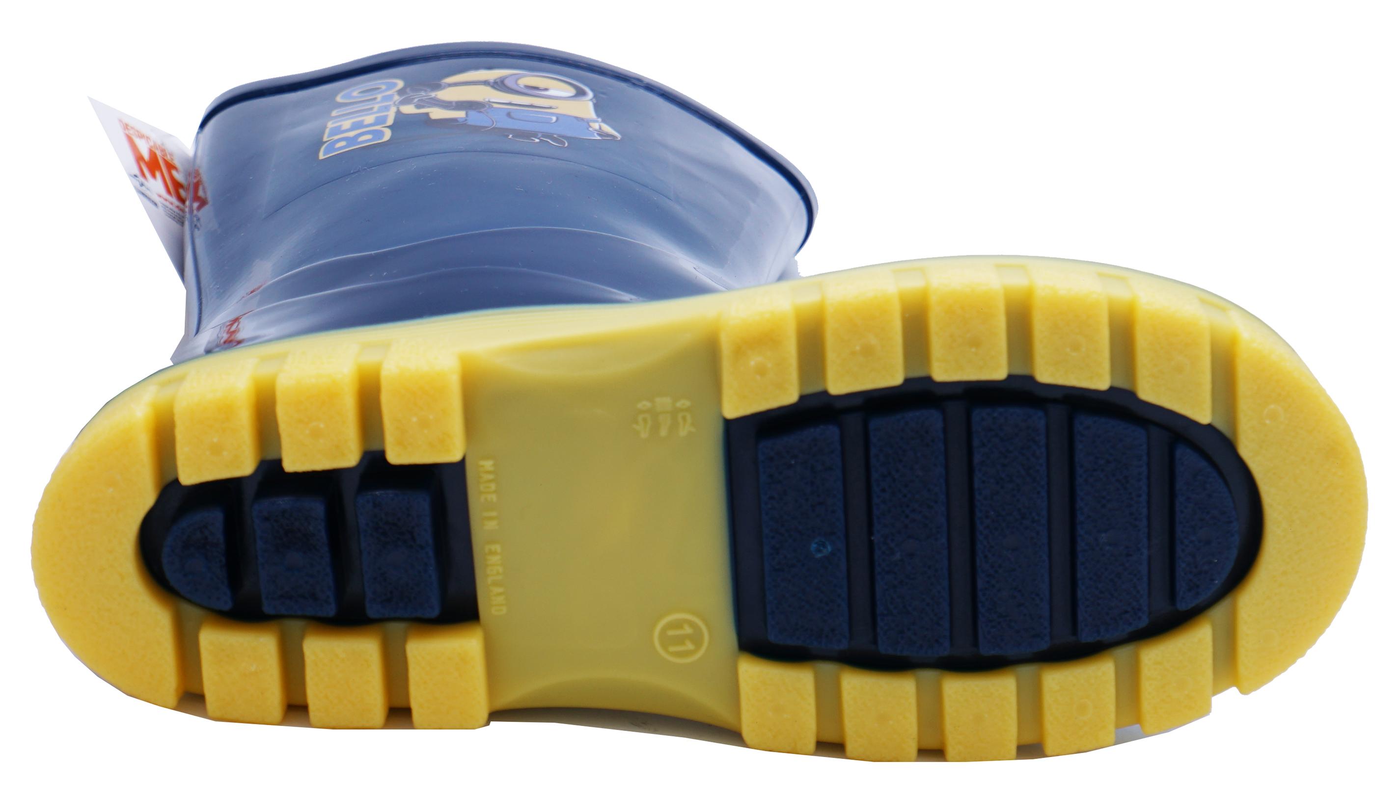 Enfants Filles Garçons Bleu Marine serviteurs À Enfiler Bottes Splash Bottes Wellington Tailles 4-12