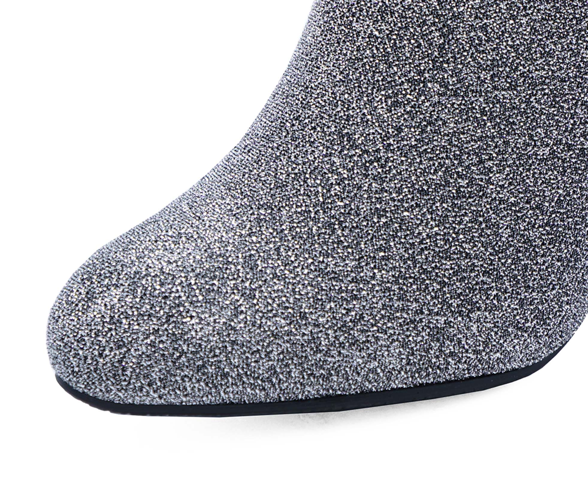 ever popular outlet on sale genuine shoes Details about LADIES SILVER ZIP-UP EXTRA WIDE-FIT EEE LOW HEEL ANKLE BOOTS  WORK SHOES UK 4-10