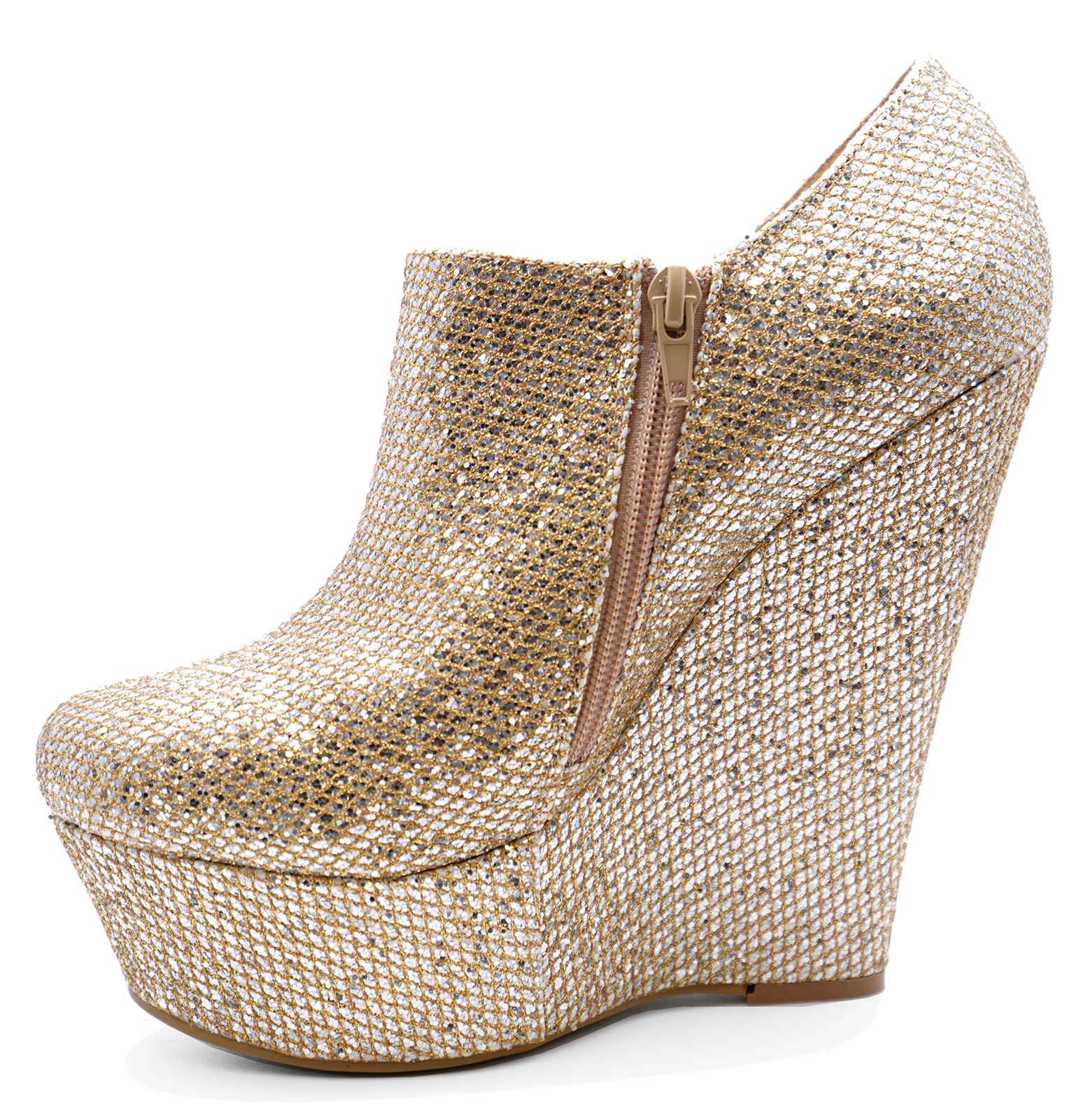 Gold sparkly pumps size 41 uk 8