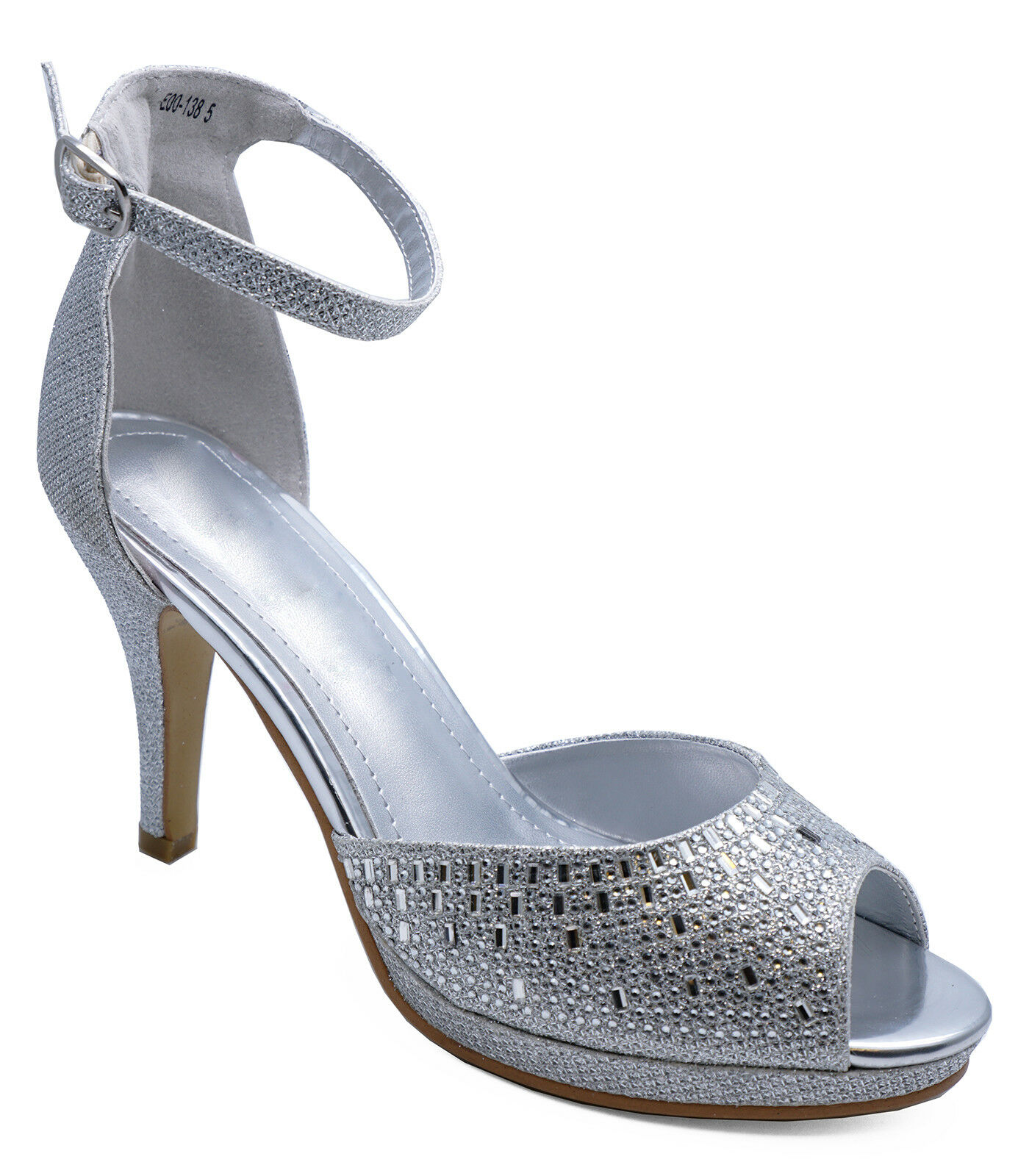 Silver Wedding Shoes.Details About Womens Silver Bridesmaid Bridal Party Evening Wedding Sandals Shoes Sizes 3 8