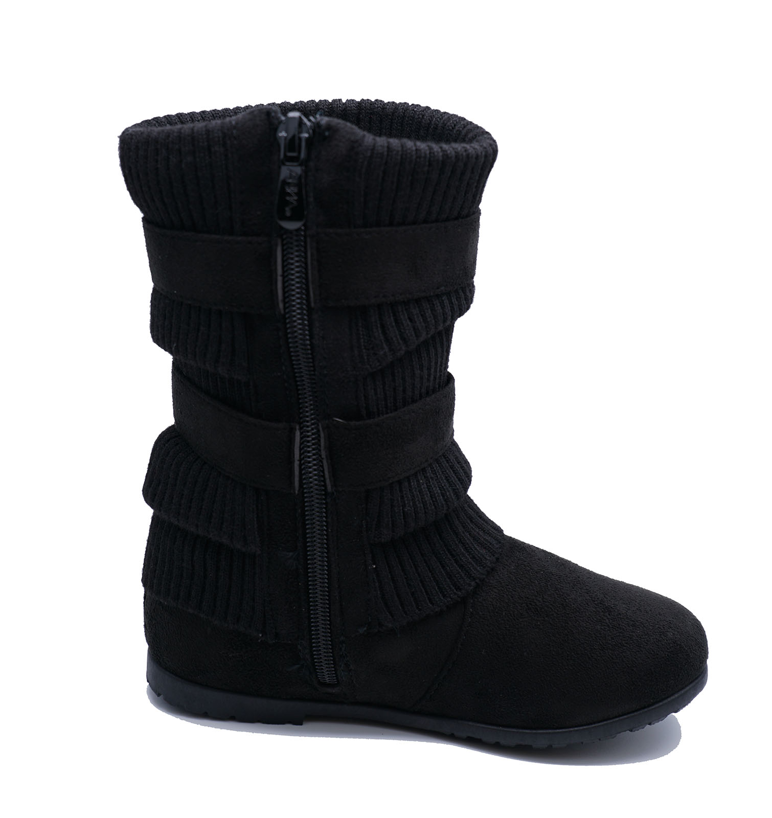 FLAT RUCHED ZIP-UP WARM WINTER BOOTS