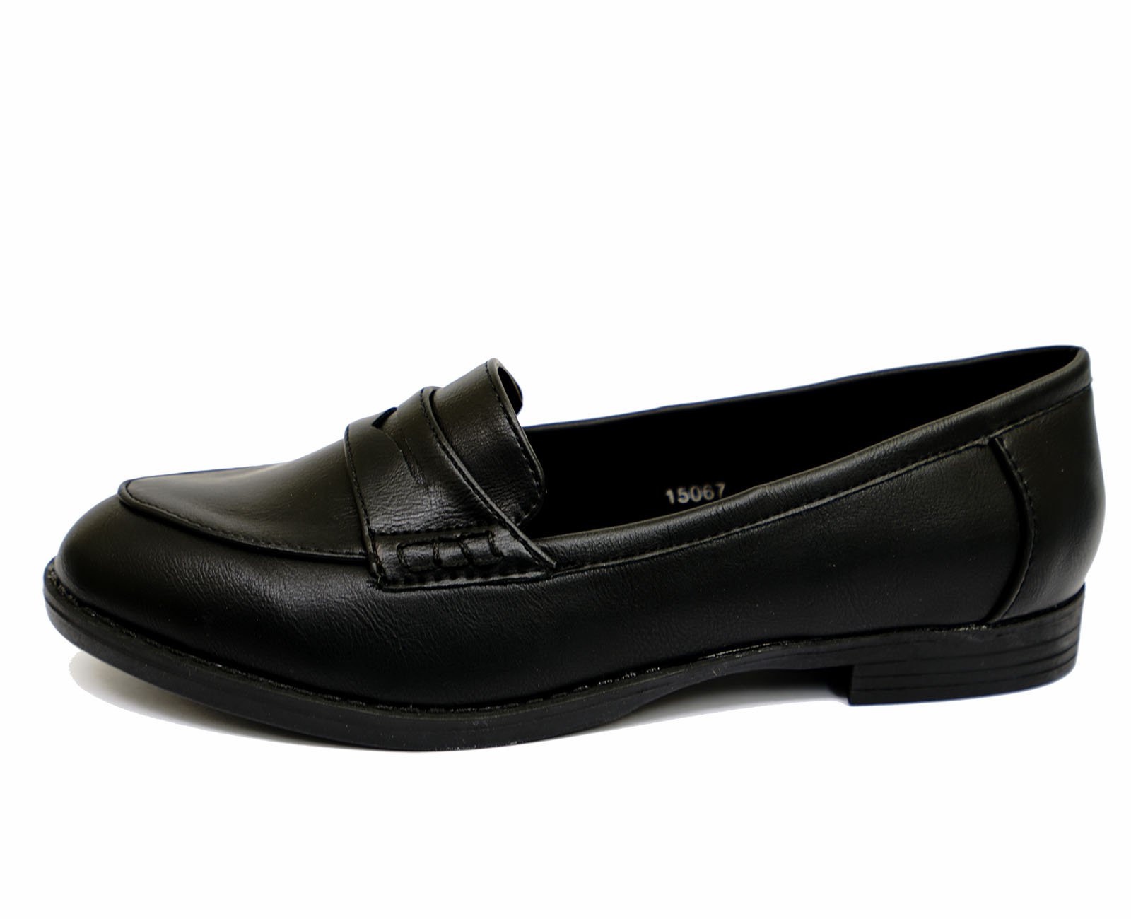 LADIES-BLACK-SLIP-ON-LOAFERS-MOCCASIN-CASUAL-SMART-WORK-COMFY-SCHOOL-SHOES-3-9 thumbnail 10